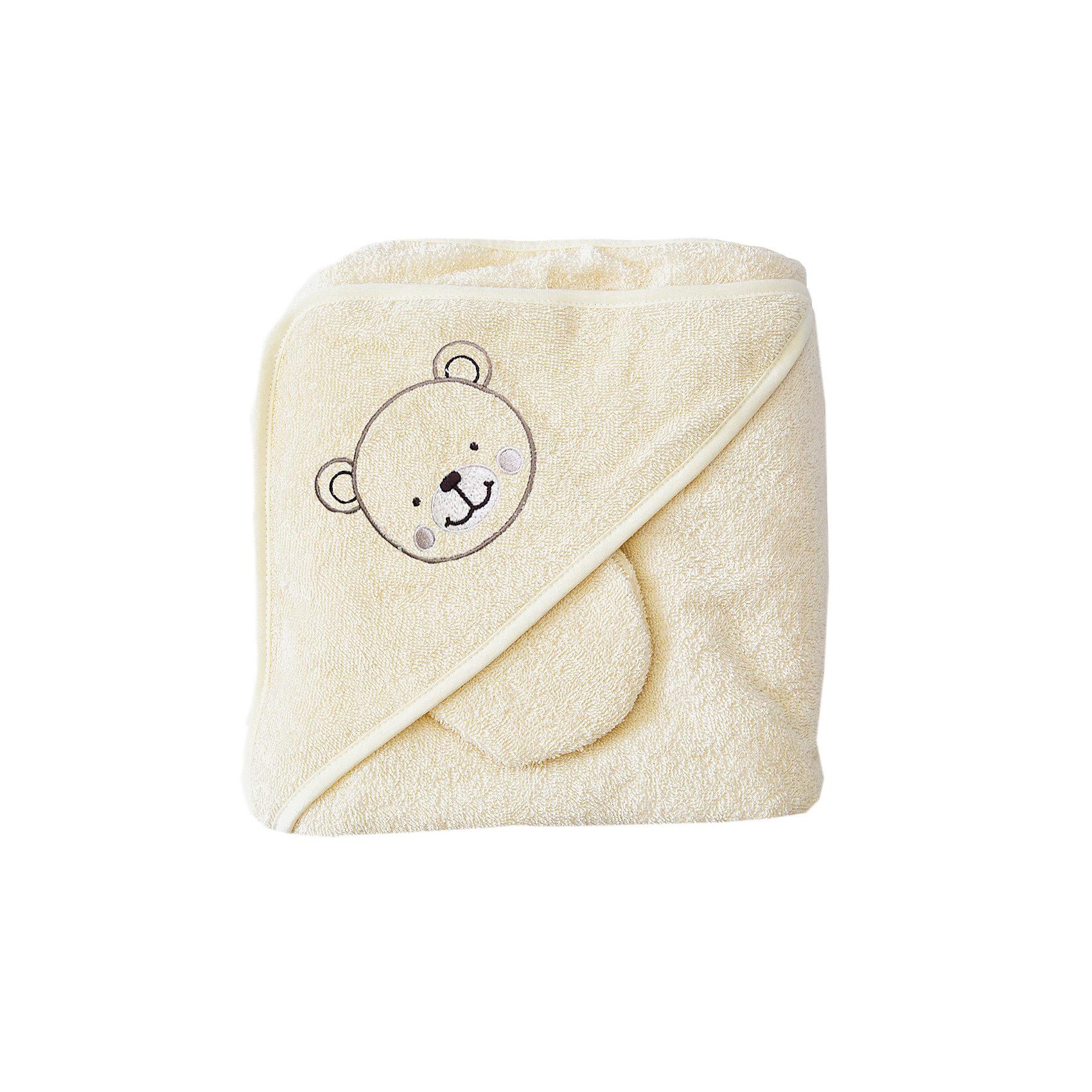 Махровое полотенце с уголком, 75х75 см., Baby Nice, шампаньПолотенца, мочалки, халаты<br>Комплект махровый для купания детский изготовлен из 100% натурального хлопка — уютный и очень комфортный по тактильным ощущениям. Специальная обработка плотной махровой ткани придает ей особые впитывающие влагу свойства, а также необыкновенную мягкость и пушистость. В комплект входит большой уголок 120Х120 см, который служит малышу одновременно полотенцем и капюшоном, а так же варежка для мытья ребенка и две салфетки. Комплекты махровые для купания окрашены гипоаллергенными красителями<br><br>Ширина мм: 250<br>Глубина мм: 250<br>Высота мм: 50<br>Вес г: 200<br>Возраст от месяцев: 0<br>Возраст до месяцев: 12<br>Пол: Унисекс<br>Возраст: Детский<br>SKU: 6885016