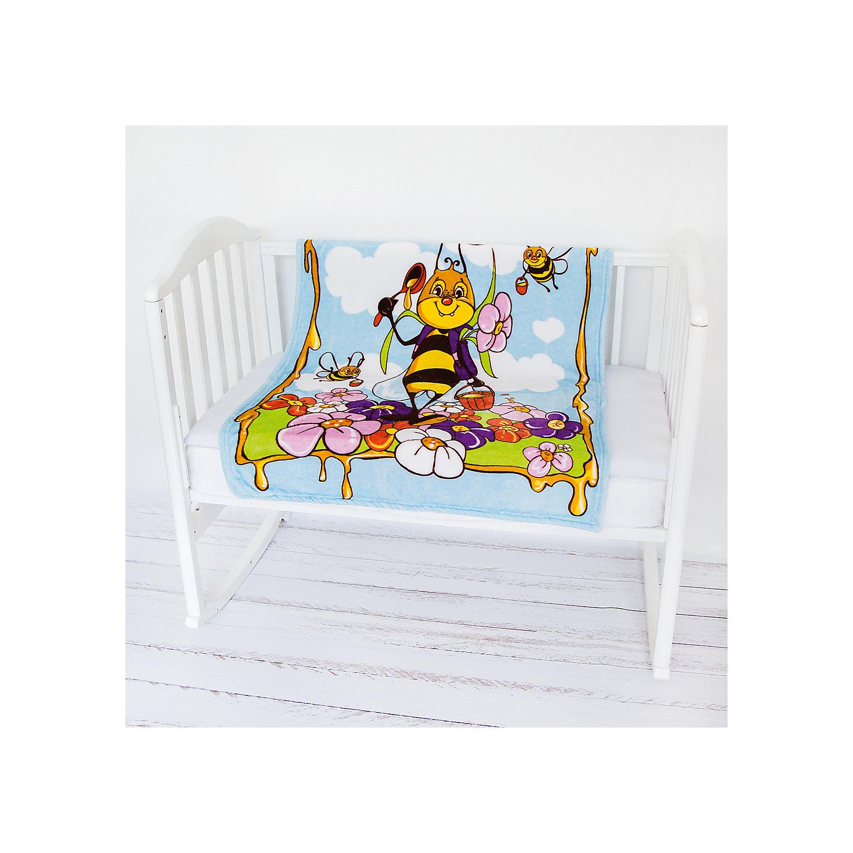 Плед- покрывало Micro Flannel, 100х118 см., Baby Nice, пчелы/голубойОдеяла, пледы<br>Нежные, очень комфортные к телу пледы-покрывала Micro FLANNEL детские — из нового необыкновенно мягкого и уютного, бархатистого, как плюшевая игрушка, материала — легкая воздухопроницаемая ткань, обладающая влагорегулирующими и терморегулирующими свойствами. Micro FLANNEL поддерживает температурный баланс, надежно сохраняет тепло, не раздражает кожу, является гипоаллергенным. Этот материал, достаточно новый для России, благодаря своему высокому качеству и необыкновенным потребительским свойствам, успел завоевать заслуженное признание за рубежом, особенно в Европе; обладает антипиллинговым свойством, не впитывает запахи, легок в стирке, не усаживается, быстро сохнет. Гипоаллергенными красителями нанесены эксклюзивные рисунки 3D.<br><br>Ширина мм: 200<br>Глубина мм: 150<br>Высота мм: 20<br>Вес г: 250<br>Возраст от месяцев: 0<br>Возраст до месяцев: 12<br>Пол: Унисекс<br>Возраст: Детский<br>SKU: 6885019