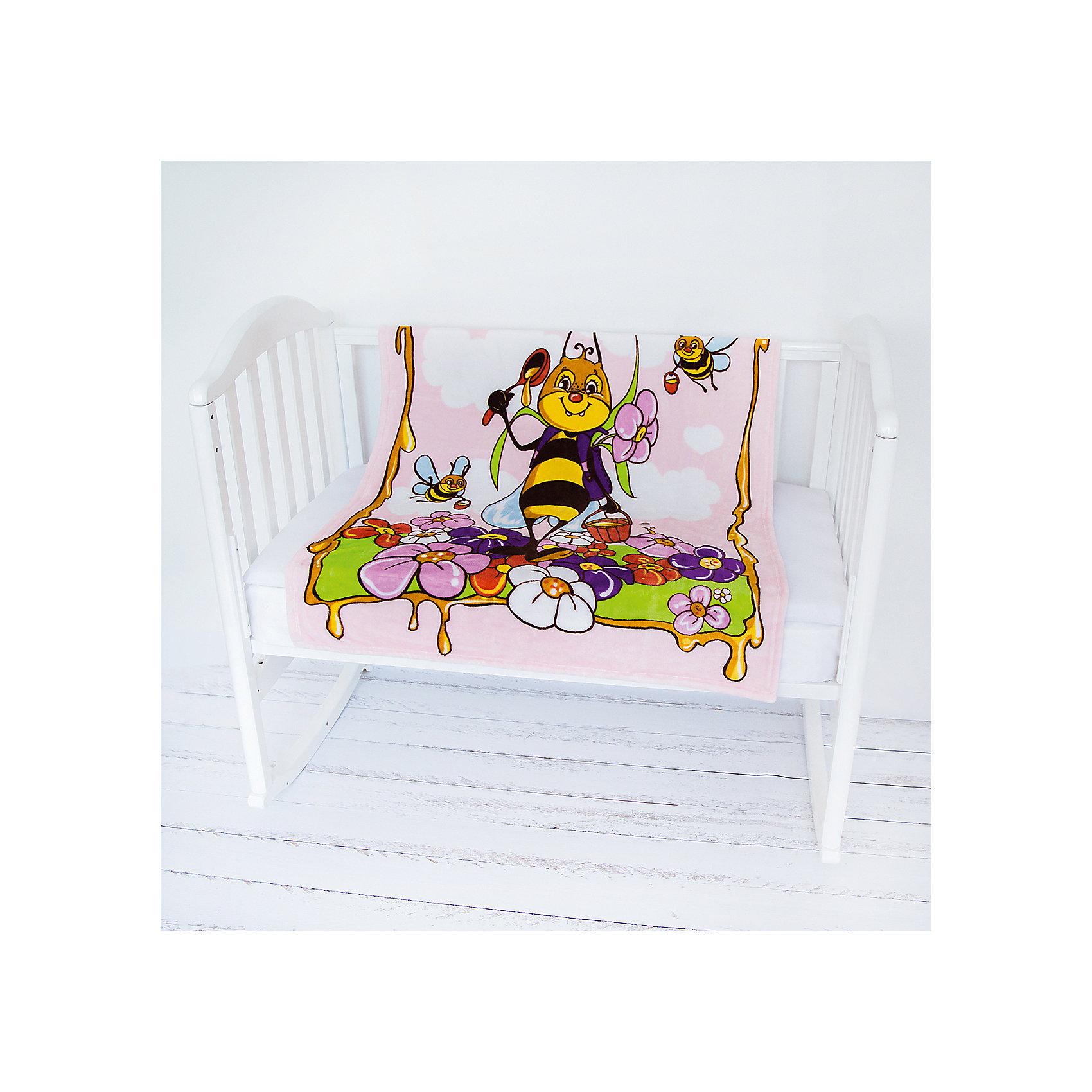 Плед- покрывало Micro Flannel, 100х118 см., Baby Nice, пчелы/розовыйОдеяла, пледы<br>Нежные, очень комфортные к телу пледы-покрывала Micro FLANNEL детские — из нового необыкновенно мягкого и уютного, бархатистого, как плюшевая игрушка, материала — легкая воздухопроницаемая ткань, обладающая влагорегулирующими и терморегулирующими свойствами. Micro FLANNEL поддерживает температурный баланс, надежно сохраняет тепло, не раздражает кожу, является гипоаллергенным. Этот материал, достаточно новый для России, благодаря своему высокому качеству и необыкновенным потребительским свойствам, успел завоевать заслуженное признание за рубежом, особенно в Европе; обладает антипиллинговым свойством, не впитывает запахи, легок в стирке, не усаживается, быстро сохнет. Гипоаллергенными красителями нанесены эксклюзивные рисунки 3D.<br><br>Ширина мм: 200<br>Глубина мм: 150<br>Высота мм: 20<br>Вес г: 250<br>Возраст от месяцев: 0<br>Возраст до месяцев: 12<br>Пол: Унисекс<br>Возраст: Детский<br>SKU: 6885020