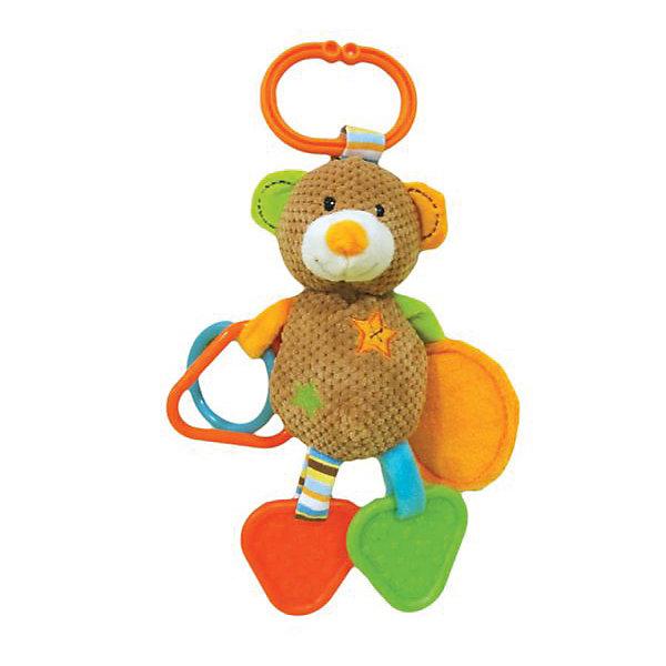 Игрушка-подвескка Жирафики Мишка ВиллиИгрушки для новорожденных<br>Характеристики:<br><br>• состав: погремушки, зеркальце, прорезыватель;<br>• удобное подвесное колечко;<br>• материал: пластик, текстиль, наполнитель;<br>• возраст: от 1 месяца;<br>• размер упаковки: 23х5х16 см;<br>• вес: 133 грамма;<br>• страна бренда: Россия.<br><br>Забавный мишка Вилли развлечет малыша дома или во время прогулки. Для удобства использования игрушка оснащена колечком, с помощью которого ее удобно закреплять на коляске, кроватке или автокресле.<br><br>На одной ручке мишки расположены пластиковые элементы, гремящие при тряске, а на другой - безопасное зеркальце. Ножки мишки Вилли состоят из прорезывателей, которые  помогут малышу в период прорезывания зубов.<br><br>Различные фактуры, звуки и цвета способствую развитию мелкой моторики, цветового и звукового восприятия.<br><br>Подвеску с зеркальцем, прорезывателями и погремушками  Мишка Вилли, Жирафики можно купить в нашем интернет-магазине.<br><br>Ширина мм: 160<br>Глубина мм: 50<br>Высота мм: 230<br>Вес г: 133<br>Возраст от месяцев: 1<br>Возраст до месяцев: 2147483647<br>Пол: Унисекс<br>Возраст: Детский<br>SKU: 6885305