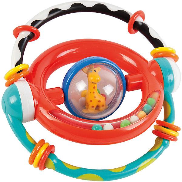 Погремушка-трансформер Жирафики Умный жирафикИгрушки для новорожденных<br>Характеристики:<br><br>• много развивающих элементов;<br>• яркие цвета;<br>• материал: пластик;<br>• возраст: от 1 месяца;<br>• размер упаковки: 21х3х15 см;<br>• вес: 160 грамм;<br>• страна бренда: Россия.<br><br>Погремушка-трансформер предназначена для игр и развития малышей в возрасте от 1 месяца. В центре игрушки расположен прозрачный шар с жирафом и шариками. По краям - круг с разноцветными шариками. Если потрясти игрушку, то шарики будут очень шумно греметь, радуя кроху.<br><br>Внешние дуги можно двигать. При этом они издают громкий звук, привлекающий внимание ребенка. Кроме того, на внешних дугах расположены колечки, которые ребенок сможет передвигать.<br><br>Игрушка способствует развитию мелкой моторики, цветового, звукового и тактильного восприятия.<br><br>Развивающую игрушку-трансформер Умный жирафик, Жирафики можно купить в нашем интернет-магазине.<br><br>Ширина мм: 150<br>Глубина мм: 30<br>Высота мм: 210<br>Вес г: 160<br>Возраст от месяцев: 1<br>Возраст до месяцев: 2147483647<br>Пол: Унисекс<br>Возраст: Детский<br>SKU: 6885306