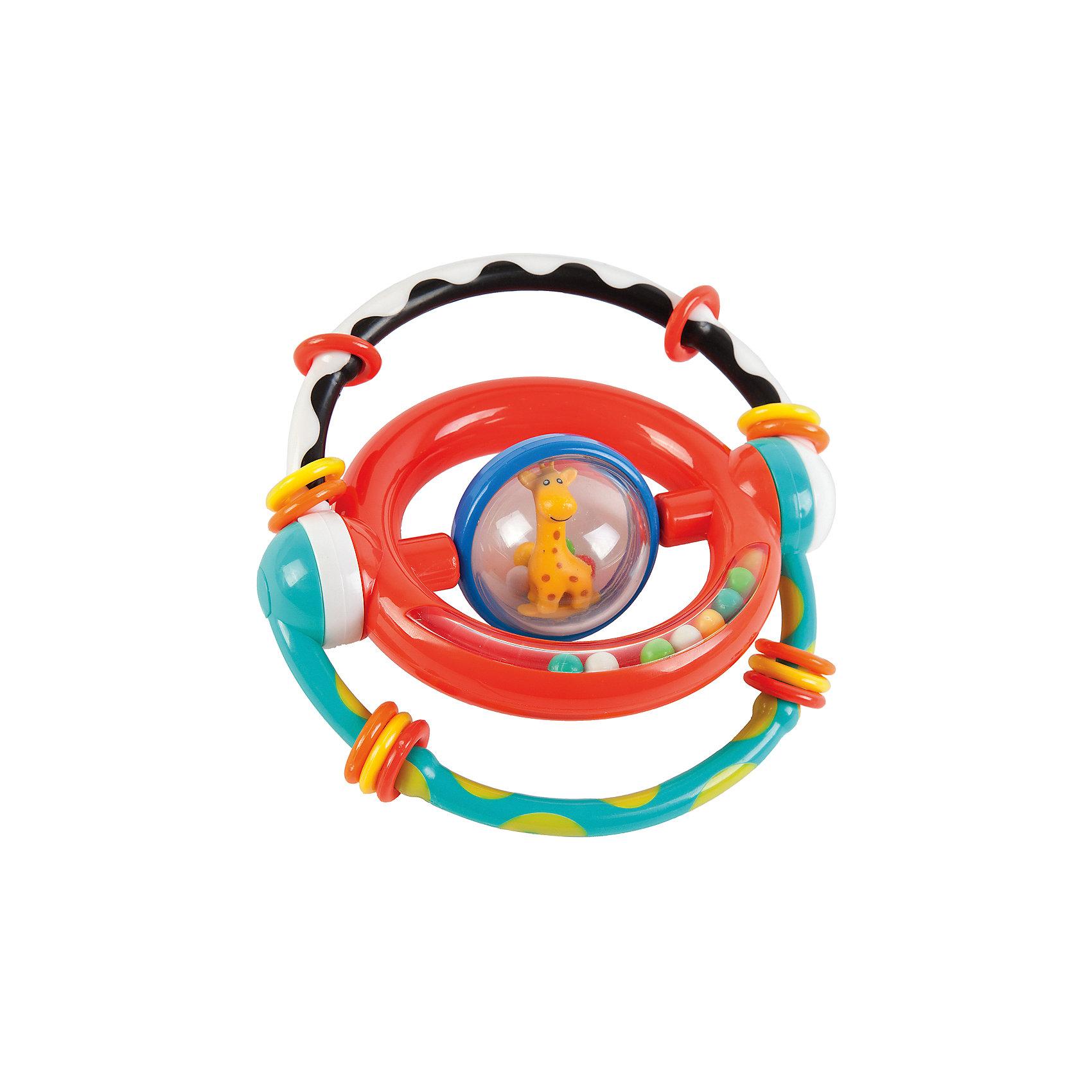 Погремушка-трансформер Жирафики Умный жирафикРазвивающие игрушки<br>Характеристики:<br><br>• много развивающих элементов;<br>• яркие цвета;<br>• материал: пластик;<br>• возраст: от 1 месяца;<br>• размер упаковки: 21х3х15 см;<br>• вес: 160 грамм;<br>• страна бренда: Россия.<br><br>Погремушка-трансформер предназначена для игр и развития малышей в возрасте от 1 месяца. В центре игрушки расположен прозрачный шар с жирафом и шариками. По краям - круг с разноцветными шариками. Если потрясти игрушку, то шарики будут очень шумно греметь, радуя кроху.<br><br>Внешние дуги можно двигать. При этом они издают громкий звук, привлекающий внимание ребенка. Кроме того, на внешних дугах расположены колечки, которые ребенок сможет передвигать.<br><br>Игрушка способствует развитию мелкой моторики, цветового, звукового и тактильного восприятия.<br><br>Развивающую игрушку-трансформер Умный жирафик, Жирафики можно купить в нашем интернет-магазине.<br><br>Ширина мм: 150<br>Глубина мм: 30<br>Высота мм: 210<br>Вес г: 160<br>Возраст от месяцев: 1<br>Возраст до месяцев: 2147483647<br>Пол: Унисекс<br>Возраст: Детский<br>SKU: 6885306