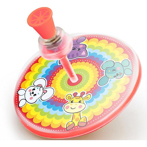 Юла Жирафики РадугаЮлы, неваляшки<br>Характеристики:<br><br>• яркая картинка:<br>• материал: пластик;<br>• диаметр: 15 см;<br>• возраст: от 12 месяцев;<br>• размер упаковки: 15х15х15 см;<br>• вес: 60 грамм;<br>• страна бренда: Россия.<br><br>Юла - одна из любимых игрушек малышей. Очень весело наблюдать, как быстро она крутится вместе с яркой картинкой.<br><br>Внутри юлы - яркое изображение забавных зверюшек на фоне радуги. При кручении юлы они очень увлекательно двигаются, привлекая внимание малыша.<br><br>Игрушка изготовлена из высококачественного пластика. Диаметр юлы - 15 сантиметров.<br><br>Юлу Радуга, Жирафики можно купить  в нашем интернет-магазине.<br><br>Ширина мм: 150<br>Глубина мм: 150<br>Высота мм: 150<br>Вес г: 60<br>Возраст от месяцев: 12<br>Возраст до месяцев: 2147483647<br>Пол: Унисекс<br>Возраст: Детский<br>SKU: 6885310