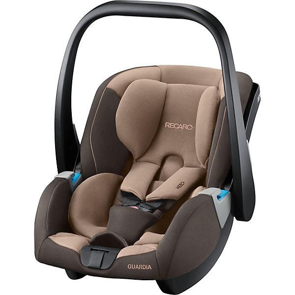 Автокресло Recaro Guardia, 0-13кг., dakar sandГруппа 0+  (до 13 кг)<br>Характеристики:<br><br>• группа: 0-0+;<br>• возраст ребенка: до 13 кг;<br>• вес ребенка: от рождения до 12 месяцев;<br>• способ крепления: база SmartClick с крепление Isofix или штатные ремни безопасности автомобиля;<br>• дополнительная упор-ножка в пол;<br>• обратите внимание: база SmartClick приобретается отдельно;<br>• защита от боковых ударов;<br>• способ установки: против хода движения автомобиля;<br>• тип ремней безопасности: 5-ти точечные с мягкими накладками;<br>• регулируемая ручка для переноски;<br>• съемные чехлы: стирка при температуре 30 градусов;<br>• вентилируемая вставка;<br>• регулируемый солнцезащитный козырек;<br>• люлька-качалка: специальные полозья для укачивания малыша;<br>• автокресло устанавливается на шасси колясок Recaro с помощью адаптеров;<br>• материал: пластик, полиэстер;<br>• размер автокресла: 75х47х45 см;<br>• вес автокресла: 4,1 кг;<br>• вес в упаковке: 4,5 кг.<br><br>Комплектация:<br><br>• автокресло;<br>• подушечка для новорожденных;<br>• солнцезащитный козырек;<br>• адаптеры;<br>• инструкция. <br><br>Автокресло Recaro Guardia, 0-13 кг, dakar sand можно купить в нашем интернет-магазине.<br>Ширина мм: 745; Глубина мм: 465; Высота мм: 420; Вес г: 5944; Цвет: бежевый; Возраст от месяцев: 0; Возраст до месяцев: 18; Пол: Унисекс; Возраст: Детский; SKU: 6885331;