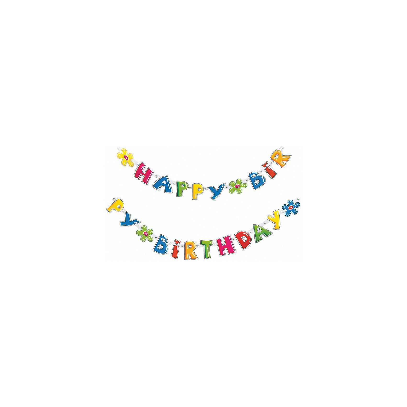Гирлянда  Happy Birthday, 1.6 мх11см.Всё для праздника<br>Характеристики товара:<br><br>• возраст: от 3 лет<br>• цвет: мульти<br>• материал: бумага<br>• размер упаковки: 17х21х3 см<br>• длина: 1,6 м<br>• вес: 40 г<br>• страна бренда: Германия<br>• страна изготовитель: Германия<br><br>Яркая гирлянда с надписью «Happy Birthday» - это необходимая изюминка в оформлении детского праздника. <br><br>Ею можно украсить стены, окна помещения, а также растянуть по диагонали.<br><br>Изделие произведено из безопасного для детей материала.<br><br>Гирлянду «Happy Birthday», 1.6 мх11см от бренда Herlitz (Херлиц) можно купить в нашем интернет-магазине.<br><br>Ширина мм: 8<br>Глубина мм: 175<br>Высота мм: 210<br>Вес г: 47<br>Возраст от месяцев: 36<br>Возраст до месяцев: 2147483647<br>Пол: Унисекс<br>Возраст: Детский<br>SKU: 6886471