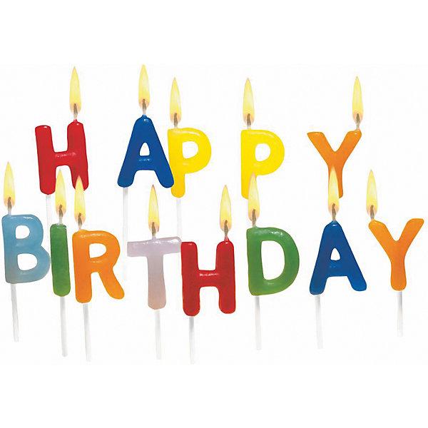Свечи для торта Happy Birthday, 15 штДетские свечи для торта<br>Характеристики товара:<br><br>• возраст: от 3 лет<br>• цвет: мульти<br>• размер упаковки: 10х2х11 см<br>• на шпажке<br>• комплектация: 6 шт<br>• вес: 50 г<br>• страна бренда: Германия<br>• страна изготовитель: Германия<br><br>Ну что праздник без торта? А что за торт без свечек? Свечи от бренда Herlitz выполнены в виде букв, из которых составляется надпись «Happy Birthday».<br><br>Каждая свечка дополнена удобной деревянной шпажкой. Изделие произведено из безопасного для детей материала.<br><br>Свечи для торта «Happy Birthday», 15 шт, от бренда Herlitz (Херлиц) можно купить в нашем интернет-магазине.<br>Ширина мм: 23; Глубина мм: 100; Высота мм: 110; Вес г: 47; Возраст от месяцев: 36; Возраст до месяцев: 2147483647; Пол: Унисекс; Возраст: Детский; SKU: 6886482;