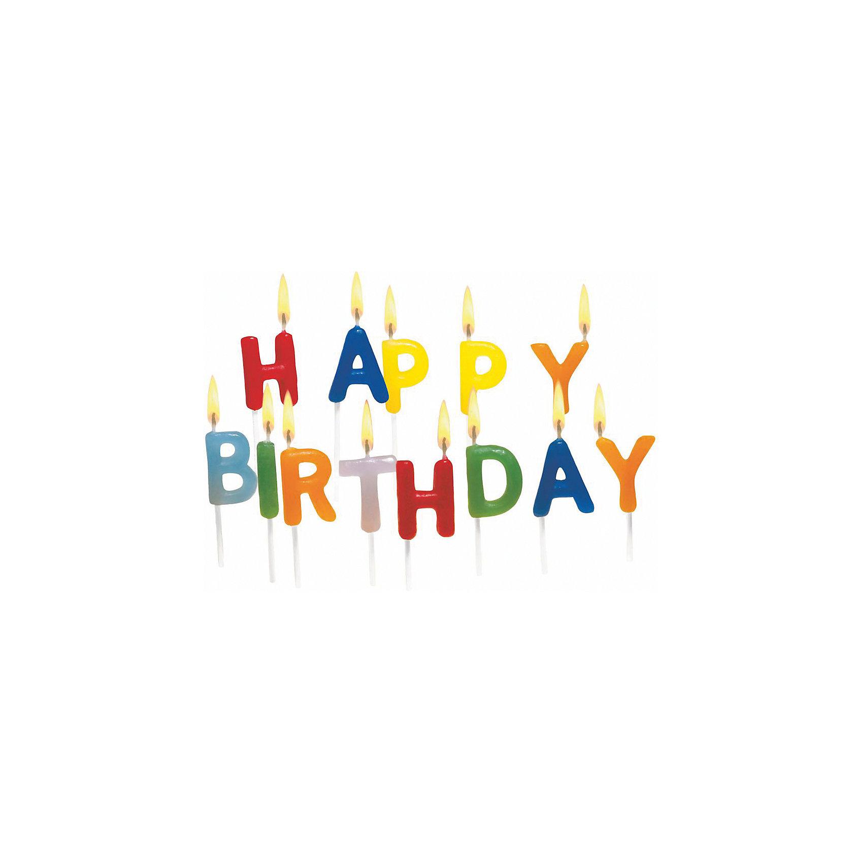 Свечи для торта  Happy Birthday, 15 штВсё для праздника<br>Характеристики товара:<br><br>• возраст: от 3 лет<br>• цвет: мульти<br>• размер упаковки: 10х2х11 см<br>• на шпажке<br>• комплектация: 6 шт<br>• вес: 50 г<br>• страна бренда: Германия<br>• страна изготовитель: Германия<br><br>Ну что праздник без торта? А что за торт без свечек? Свечи от бренда Herlitz выполнены в виде букв, из которых составляется надпись «Happy Birthday».<br><br>Каждая свечка дополнена удобной деревянной шпажкой. Изделие произведено из безопасного для детей материала.<br><br>Свечи для торта «Happy Birthday», 15 шт, от бренда Herlitz (Херлиц) можно купить в нашем интернет-магазине.<br><br>Ширина мм: 23<br>Глубина мм: 100<br>Высота мм: 110<br>Вес г: 47<br>Возраст от месяцев: 36<br>Возраст до месяцев: 2147483647<br>Пол: Унисекс<br>Возраст: Детский<br>SKU: 6886482