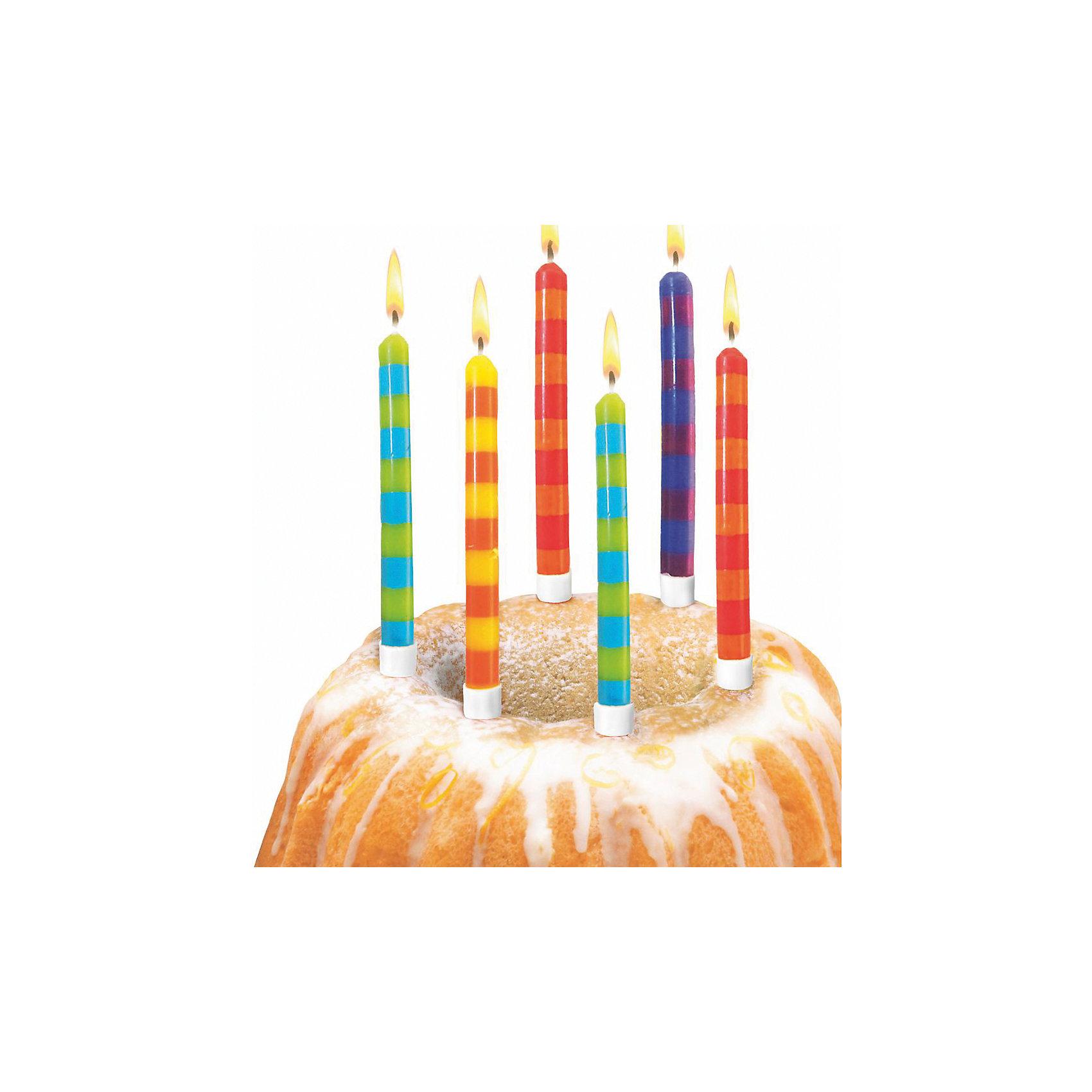 Свечи для торта в полоску, 12 шт, 12 подсвечн., парафин, блистерВсё для праздника<br>Характеристики товара:<br><br>• возраст: от 3 лет<br>• цвет: мульти<br>• размер упаковки: 9х2х20 см<br>• комплектация: 12 свечей, 12 подсвечников<br>• вес: 50 г<br>• страна бренда: Германия<br>• страна изготовитель: Германия<br><br>Ну что праздник без торта? А что за торт без свечек? Яркие свечи Herlitz для торта создадут атмосферу праздника и подарят массу положительных эмоций.<br><br>Изделие произведено из безопасного для детей материала.<br><br>Свечи для торта в полоску, 12 шт, 12 подсвечн., парафин, блистер, от бренда Herlitz (Херлиц) можно купить в нашем интернет-магазине.<br><br>Ширина мм: 17<br>Глубина мм: 90<br>Высота мм: 200<br>Вес г: 50<br>Возраст от месяцев: 36<br>Возраст до месяцев: 2147483647<br>Пол: Унисекс<br>Возраст: Детский<br>SKU: 6886483