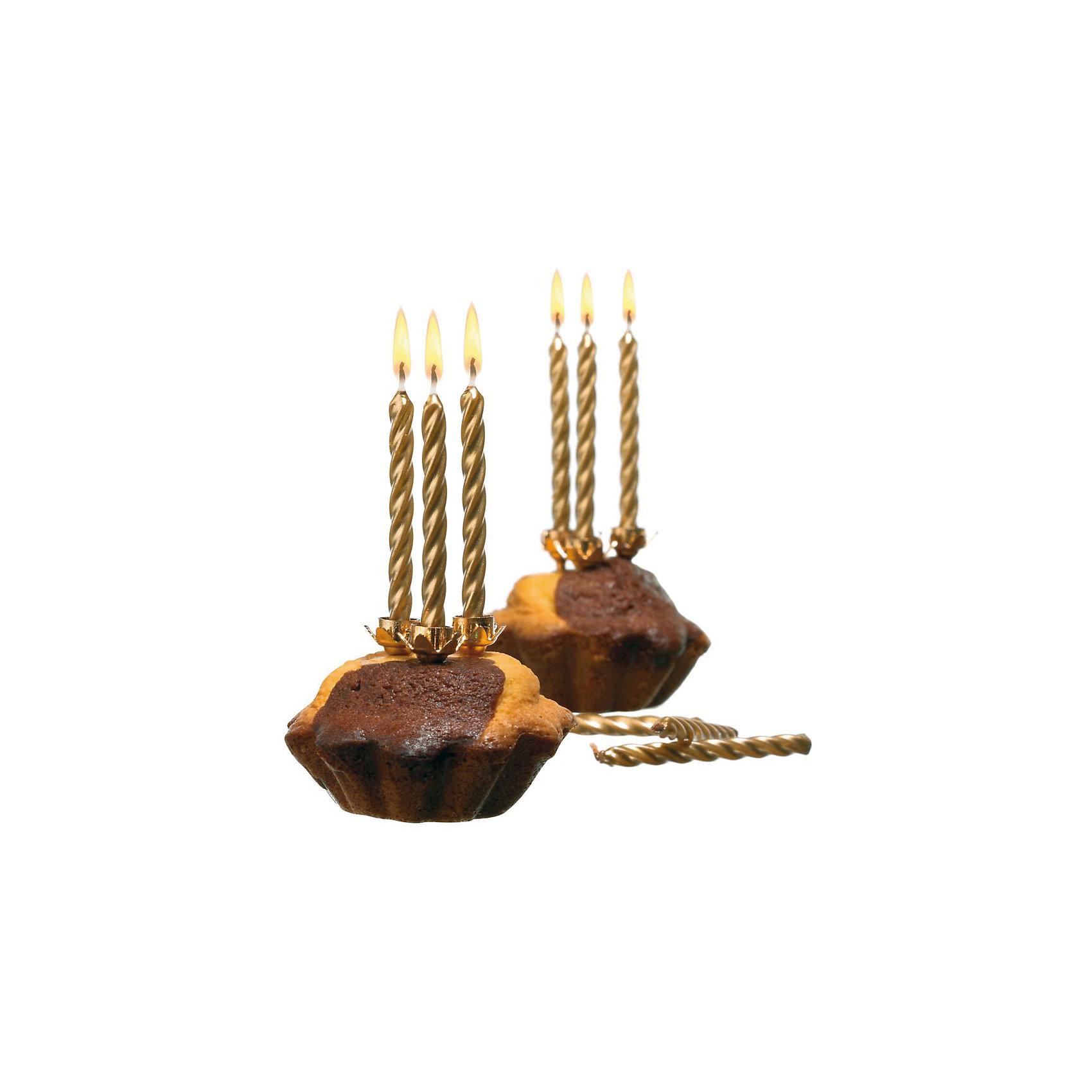 Свечи для торта, 10 шт, 10 подсвечн., золото, парафинВсё для праздника<br>Характеристики товара:<br><br>• возраст: от 3 лет<br>• цвет: золото<br>• размер упаковки: 17х2х20 см<br>• на подсвечниках<br>• комплектация: 10 шт<br>• вес: 50 г<br>• страна бренда: Германия<br>• страна изготовитель: Германия<br><br>Ну что за праздник без торта? А что за торт без свечек? Золотые свечи Herlitz для торта создадут атмосферу праздника и подарят массу положительных эмоций.<br><br>Изделие произведено из безопасного для детей материала.<br><br>Свечи для торта, 10 шт, 10 подсвечн., золото, парафин, от бренда Herlitz (Херлиц) можно купить в нашем интернет-магазине.<br><br>Ширина мм: 17<br>Глубина мм: 90<br>Высота мм: 200<br>Вес г: 38<br>Возраст от месяцев: 36<br>Возраст до месяцев: 2147483647<br>Пол: Унисекс<br>Возраст: Детский<br>SKU: 6886487