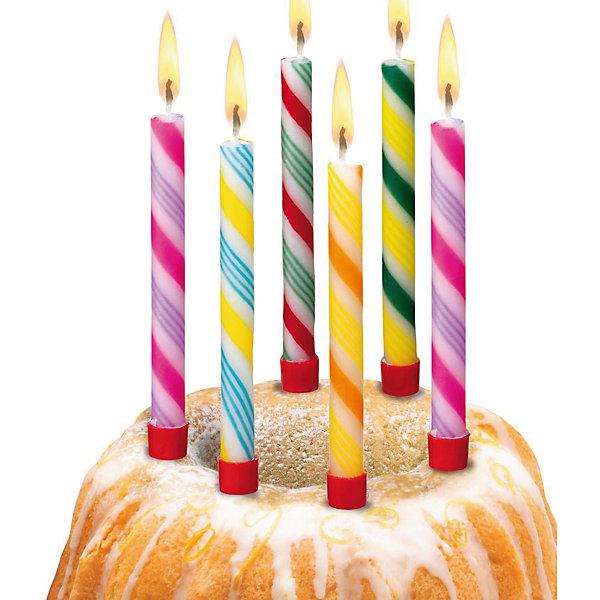 Свечи для торта Леденцы, 6 шт, 6 подсвечн., парафинДетские свечи для торта<br>Характеристики товара:<br><br>• возраст: от 3 лет<br>• цвет: мульти<br>• размер упаковки: 1х9х20 см<br>• на подсвечниках<br>• комплектация: 6 шт<br>• вес: 50 г<br>• страна бренда: Германия<br>• страна изготовитель: Германия<br><br>Ну что за праздник без торта? А что за торт без свечек? Яркие свечи Herlitz для торта создадут атмосферу праздника и подарят массу положительных эмоций.<br><br>Изделие произведено из безопасного для детей материала.<br><br>Свечи для торта  «Леденцы», 6 шт, 6 подсвечн., парафин от бренда Herlitz (Херлиц) можно купить в нашем интернет-магазине.<br><br>Ширина мм: 10<br>Глубина мм: 90<br>Высота мм: 200<br>Вес г: 42<br>Возраст от месяцев: 36<br>Возраст до месяцев: 2147483647<br>Пол: Унисекс<br>Возраст: Детский<br>SKU: 6886488