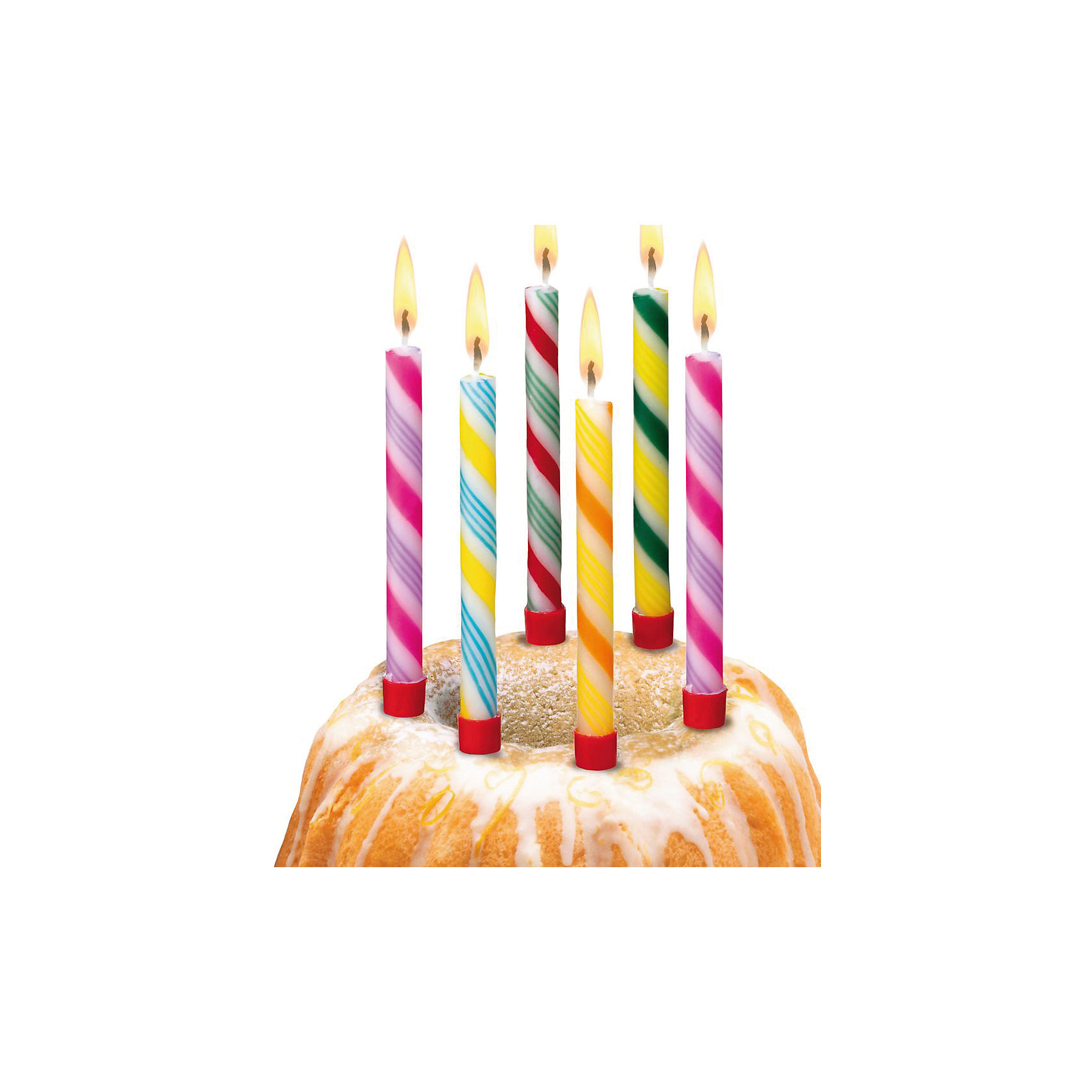 Свечи для торта Леденцы, 6 шт, 6 подсвечн., парафинВсё для праздника<br>Характеристики товара:<br><br>• возраст: от 3 лет<br>• цвет: мульти<br>• размер упаковки: 1х9х20 см<br>• на подсвечниках<br>• комплектация: 6 шт<br>• вес: 50 г<br>• страна бренда: Германия<br>• страна изготовитель: Германия<br><br>Ну что за праздник без торта? А что за торт без свечек? Яркие свечи Herlitz для торта создадут атмосферу праздника и подарят массу положительных эмоций.<br><br>Изделие произведено из безопасного для детей материала.<br><br>Свечи для торта  «Леденцы», 6 шт, 6 подсвечн., парафин от бренда Herlitz (Херлиц) можно купить в нашем интернет-магазине.<br><br>Ширина мм: 10<br>Глубина мм: 90<br>Высота мм: 200<br>Вес г: 42<br>Возраст от месяцев: 36<br>Возраст до месяцев: 2147483647<br>Пол: Унисекс<br>Возраст: Детский<br>SKU: 6886488