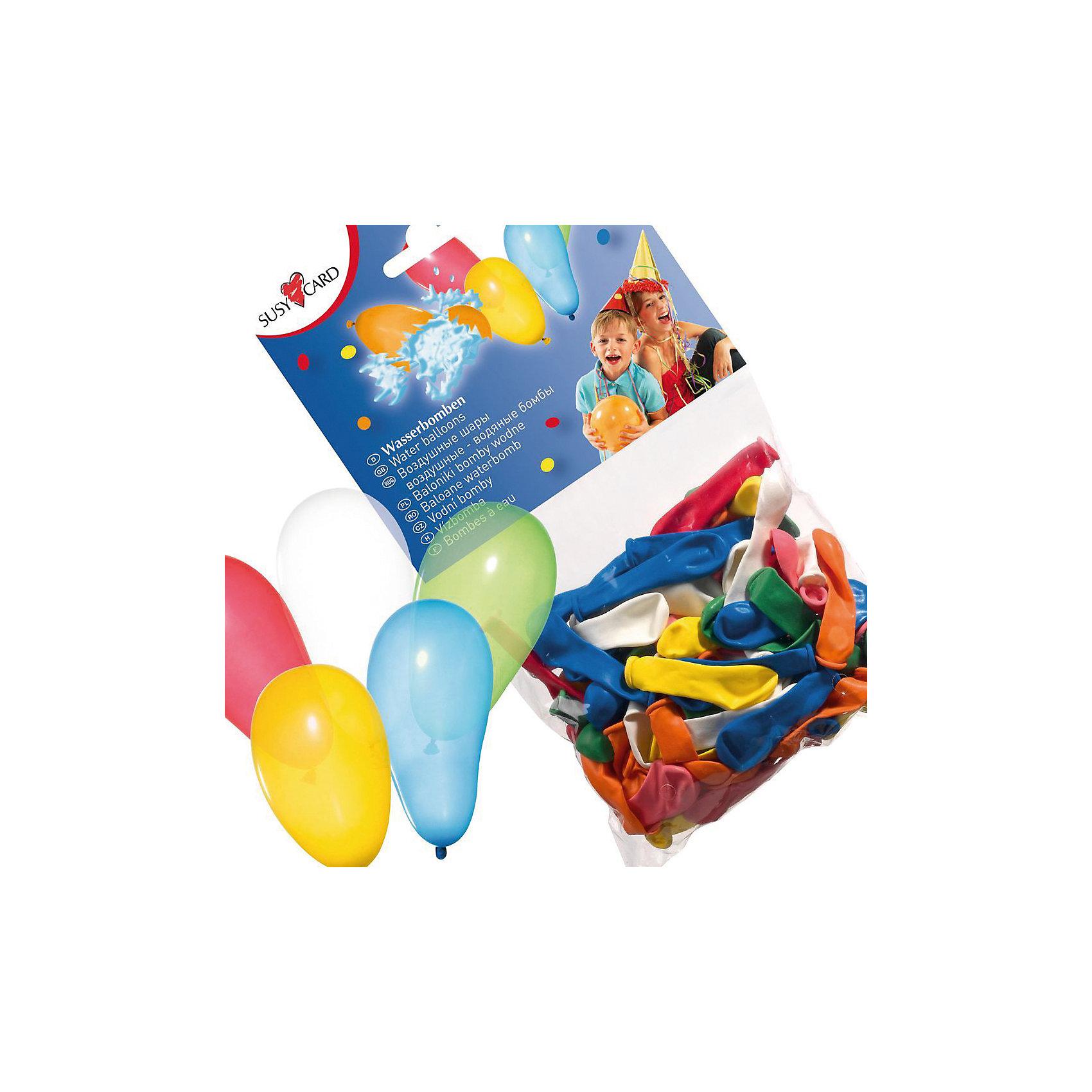 Шары воздушные  Водяные бомбочки, 100 шт., в ассортиментеВсё для праздника<br>Характеристики товара:<br><br>• возраст: от 3 лет<br>• цвет: мульти<br>• материал: биоразлагаемый латекс<br>• размер упаковки: 3х13х20 см<br>•  для заполнения водой<br>• комплектация: 100 шт<br>• вес: 50 г<br>• страна бренда: Германия<br>• страна изготовитель: Германия<br><br>Яркие воздушные шары небольшой формы превращаются в водяные бомбочки и отлично разнообразят праздник или обычный пикник.  Нужно лишь подготовить снаряды и в бой! <br><br>Шары воздушные «Водяные бомбочки», 100 шт., в ассортименте, от бренда Herlitz (Херлиц) можно купить в нашем интернет-магазине.<br><br>Ширина мм: 25<br>Глубина мм: 128<br>Высота мм: 200<br>Вес г: 52<br>Возраст от месяцев: 36<br>Возраст до месяцев: 2147483647<br>Пол: Унисекс<br>Возраст: Детский<br>SKU: 6886492