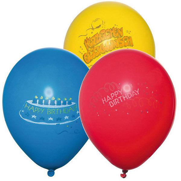 Шары воздушные  Happy Birthday, яркие, 6 штВоздушные шары<br>Характеристики товара:<br><br>• возраст: от 3 лет<br>• цвет: мульти<br>• материал: биоразлагаемый латекс<br>• размер упаковки: 1х13х20 см<br>•  для надувания гелием или воздухом<br>• комплектация: 6 шт<br>• вес: 30 г<br>• страна бренда: Германия<br>• страна изготовитель: Германия<br><br>Яркие воздушные шары добавят красок и создадут атмосферу праздника и поднимут настроение во время вечеринки.<br><br>Изделие произведено из безопасного для детей материала.<br><br>Шары воздушные «Happy Birthday», яркие, 6 шт от бренда Herlitz (Херлиц) можно купить в нашем интернет-магазине.<br>Ширина мм: 8; Глубина мм: 128; Высота мм: 220; Вес г: 26; Возраст от месяцев: 36; Возраст до месяцев: 2147483647; Пол: Унисекс; Возраст: Детский; SKU: 6886507;