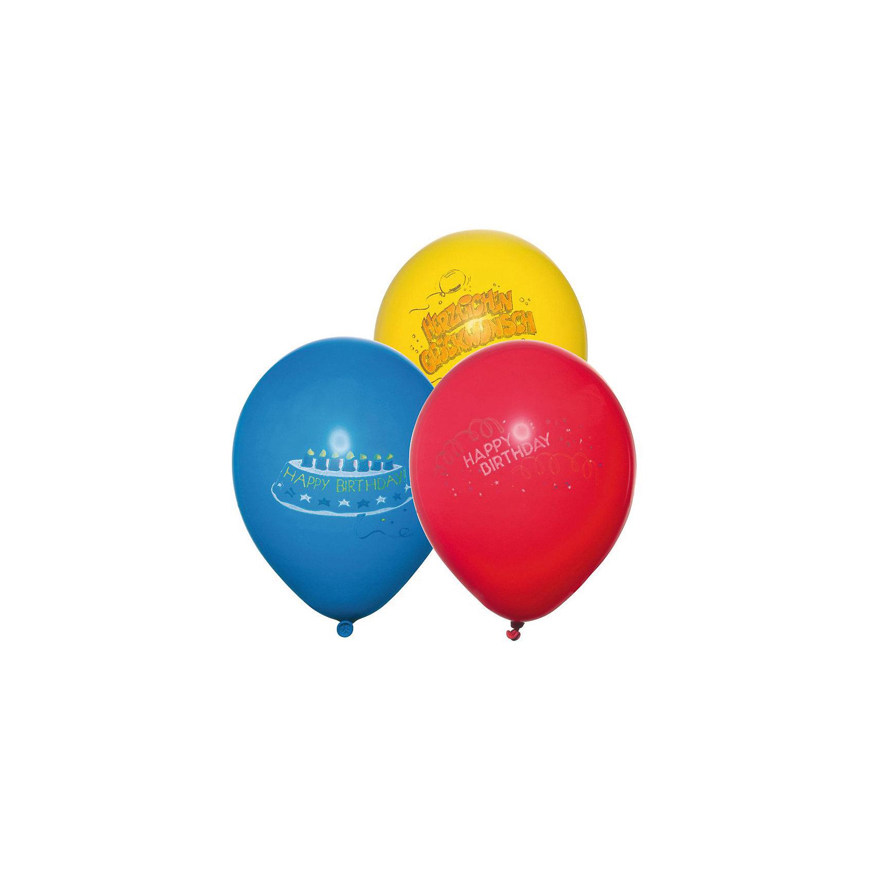 Шары воздушные  Happy Birthday, яркие, 6 штВсё для праздника<br>Характеристики товара:<br><br>• возраст: от 3 лет<br>• цвет: мульти<br>• материал: биоразлагаемый латекс<br>• размер упаковки: 1х13х20 см<br>•  для надувания гелием или воздухом<br>• комплектация: 6 шт<br>• вес: 30 г<br>• страна бренда: Германия<br>• страна изготовитель: Германия<br><br>Яркие воздушные шары добавят красок и создадут атмосферу праздника и поднимут настроение во время вечеринки.<br><br>Изделие произведено из безопасного для детей материала.<br><br>Шары воздушные «Happy Birthday», яркие, 6 шт от бренда Herlitz (Херлиц) можно купить в нашем интернет-магазине.<br><br>Ширина мм: 8<br>Глубина мм: 128<br>Высота мм: 220<br>Вес г: 26<br>Возраст от месяцев: 36<br>Возраст до месяцев: 2147483647<br>Пол: Унисекс<br>Возраст: Детский<br>SKU: 6886507