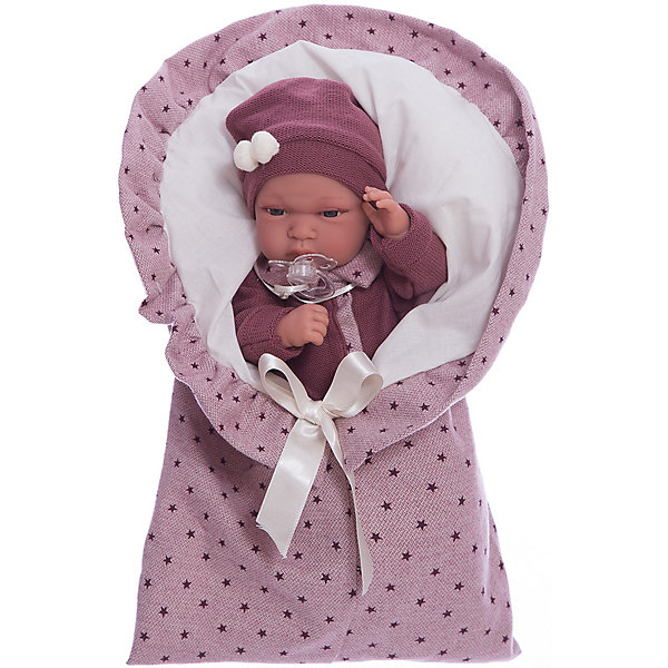 Кукла Паола в фиолетовом, 33 см, Munecas Antonio JuanКуклы<br>Характеристики товара:<br><br>• возраст: от 3 лет;<br>• материал: винил, текстиль;<br>• в комплекте: кукла, одежда, одеяло;<br>• высота куклы: 33 см;<br>• размер упаковки: 44х24,5х12 см;<br>• вес упаковки: 1,2 кг;<br>• страна производитель: Испания.<br><br>Кукла Паола в фиолетовом Munecas Antonio Juan выглядит как самый настоящий малыш. Она одета в фиолетовый комбинезон и шапочку. В комплекте уютный конверт, в котором малышка может спать и отдыхать, который также согреет ее в прохладные дни. Кукла выполнена из качественного винила, у нее подвижные руки и ноги. Игра с куклой приучит девочку к ответственности, воспитает чувство заботы и любви.<br><br>Куклу Паолу в фиолетовом Munecas Antonio Juan можно приобрести в нашем интернет-магазине.<br>Ширина мм: 440; Глубина мм: 245; Высота мм: 120; Вес г: 1200; Возраст от месяцев: 36; Возраст до месяцев: 2147483647; Пол: Женский; Возраст: Детский; SKU: 6886586;