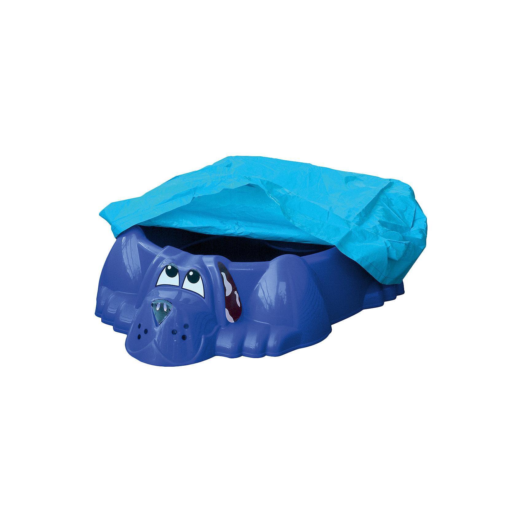 Бассейн-песочница Собачка стентом, синяя, PalPlay