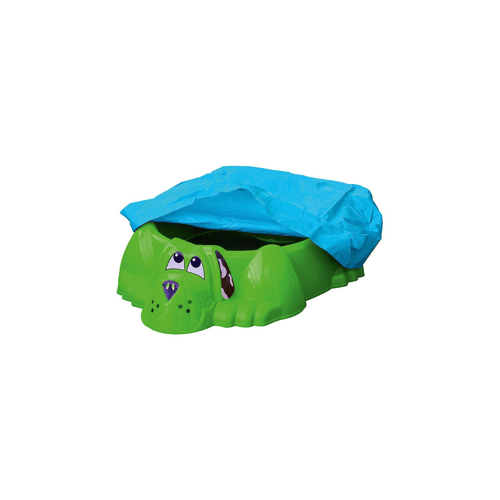 Бассейн-песочница Собачка стентом, зеленая, PalPlay