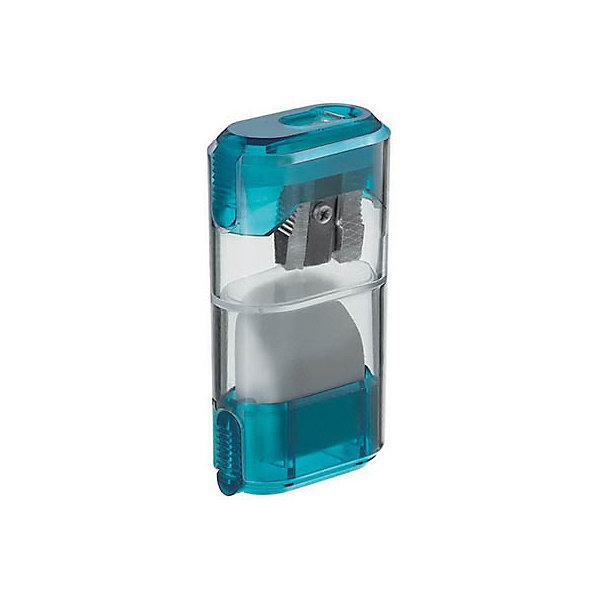 M+R Точилка пластмассоваяКанцтовары для первоклассников<br>С прозрачным контейнером, включающим отделение для стружки и  ластика, плоская компактная форма. Для  карандашей диаметром 8,2 мм. В блистере<br><br>Ширина мм: 100<br>Глубина мм: 100<br>Высота мм: 60<br>Вес г: 40<br>Возраст от месяцев: 36<br>Возраст до месяцев: 168<br>Пол: Унисекс<br>Возраст: Детский<br>SKU: 6888675