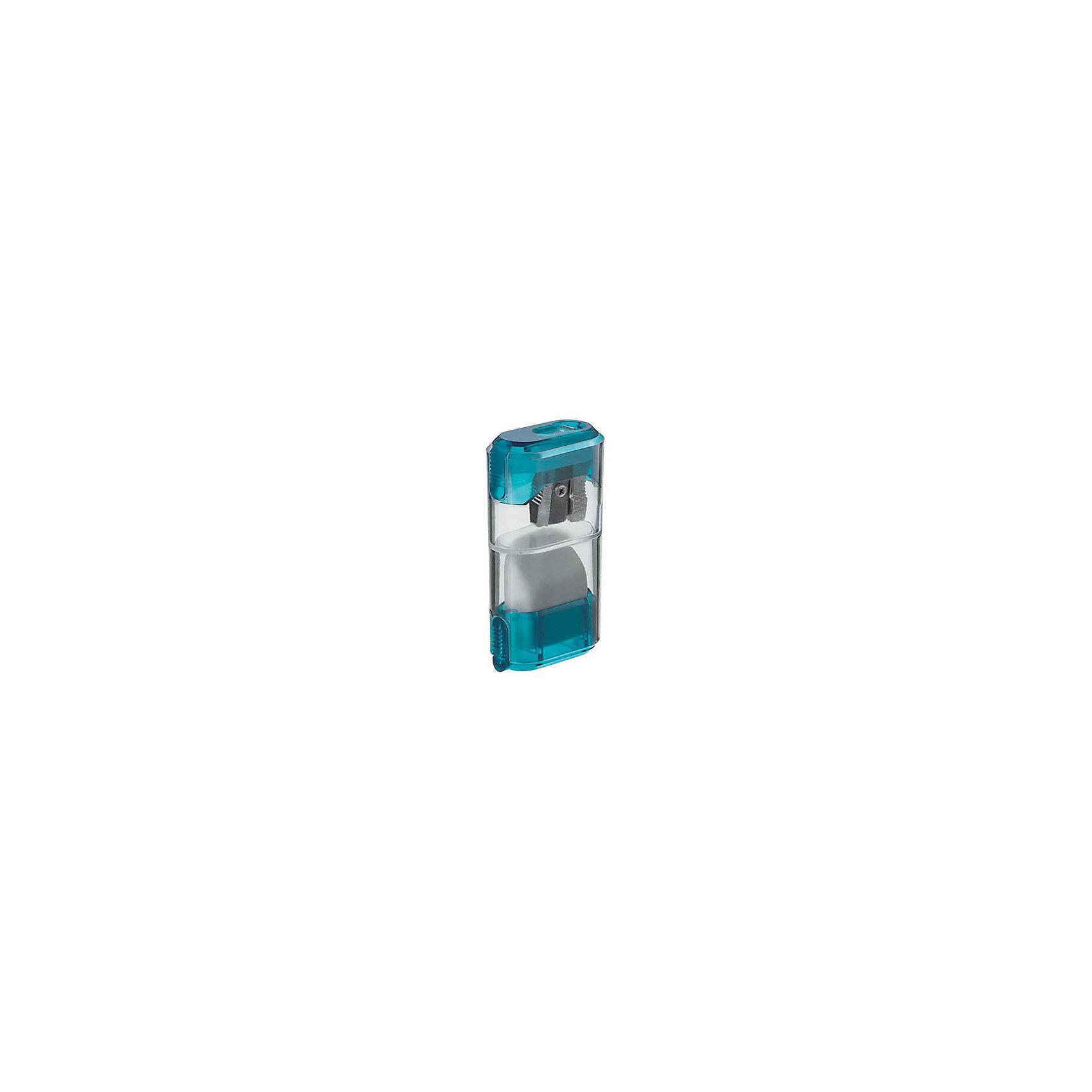 M+R Точилка пластмассоваяПисьменные принадлежности<br>С прозрачным контейнером, включающим отделение для стружки и  ластика, плоская компактная форма. Для  карандашей диаметром 8,2 мм. В блистере<br><br>Ширина мм: 100<br>Глубина мм: 100<br>Высота мм: 60<br>Вес г: 40<br>Возраст от месяцев: 36<br>Возраст до месяцев: 168<br>Пол: Унисекс<br>Возраст: Детский<br>SKU: 6888675
