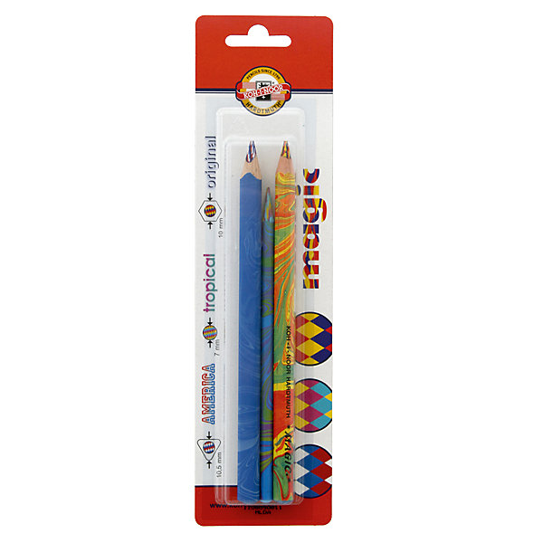 KOH-I-NOOR Набор карандашей MAGIC 3 шт,Письменные принадлежности<br>Карандаш с многоцветным грифелем: оранжевый, синий, голубой. Шестигранный корпус с раскраской в цвет грифеля. 3 штуки<br>Ширина мм: 180; Глубина мм: 40; Высота мм: 30; Вес г: 60; Возраст от месяцев: 36; Возраст до месяцев: 168; Пол: Унисекс; Возраст: Детский; SKU: 6888712;