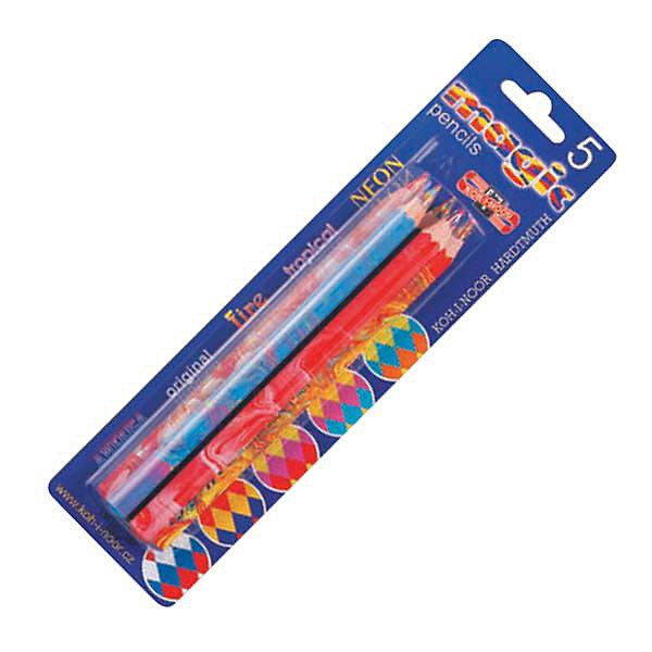 KOH-I-NOOR Набор карандашей MAGIC 5 шт,Цветные<br>Карандаш с многоцветным грифелем: синий, красный, желтый. Шестигранный корпус с раскраской в цвет грифеля. 5 штук<br>Ширина мм: 180; Глубина мм: 70; Высота мм: 30; Вес г: 15; Возраст от месяцев: 36; Возраст до месяцев: 168; Пол: Унисекс; Возраст: Детский; SKU: 6888713;