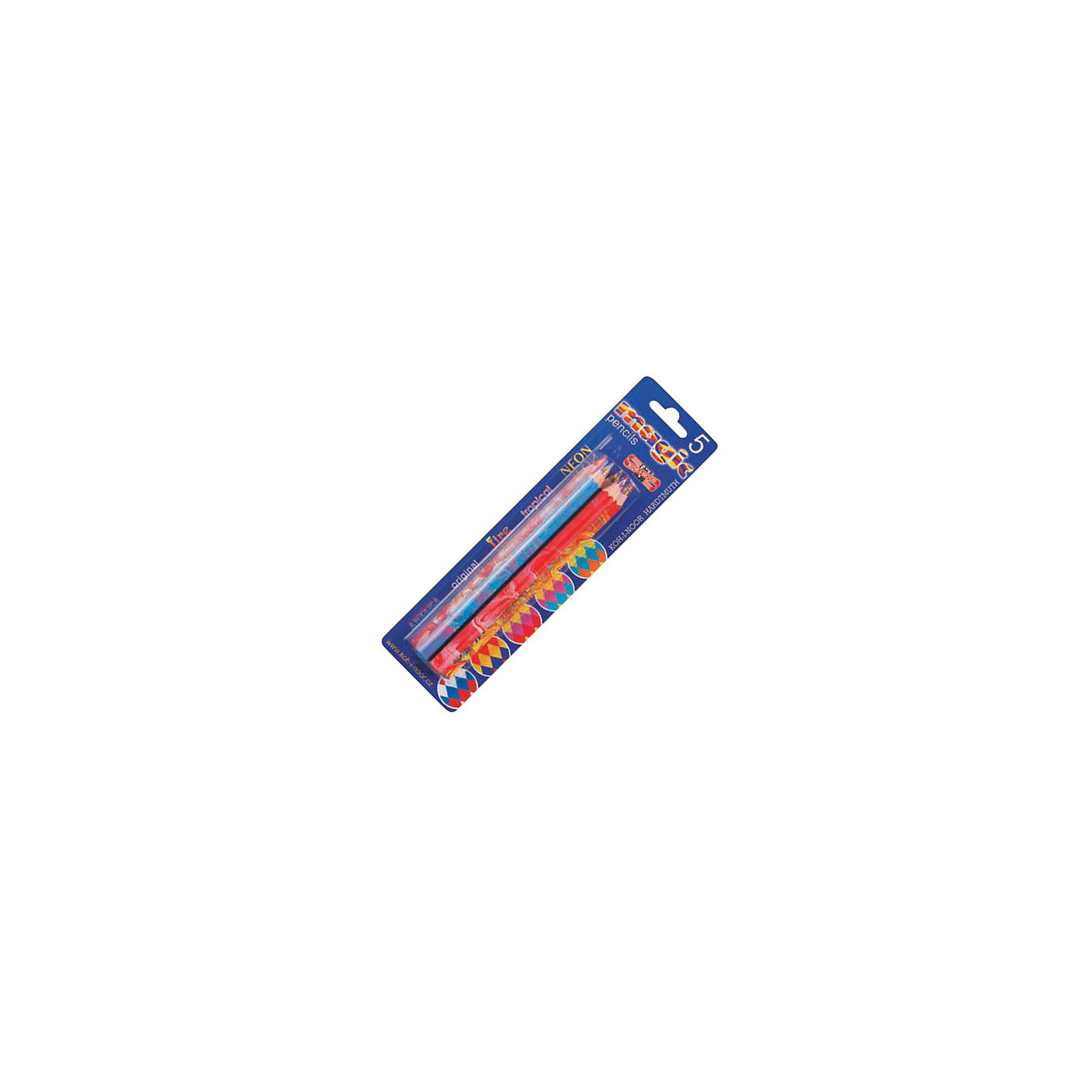KOH-I-NOOR Набор карандашей MAGIC 5 шт,Рисование<br>Карандаш с многоцветным грифелем: синий, красный, желтый. Шестигранный корпус с раскраской в цвет грифеля. 5 штук<br><br>Ширина мм: 180<br>Глубина мм: 70<br>Высота мм: 30<br>Вес г: 15<br>Возраст от месяцев: 36<br>Возраст до месяцев: 168<br>Пол: Унисекс<br>Возраст: Детский<br>SKU: 6888713
