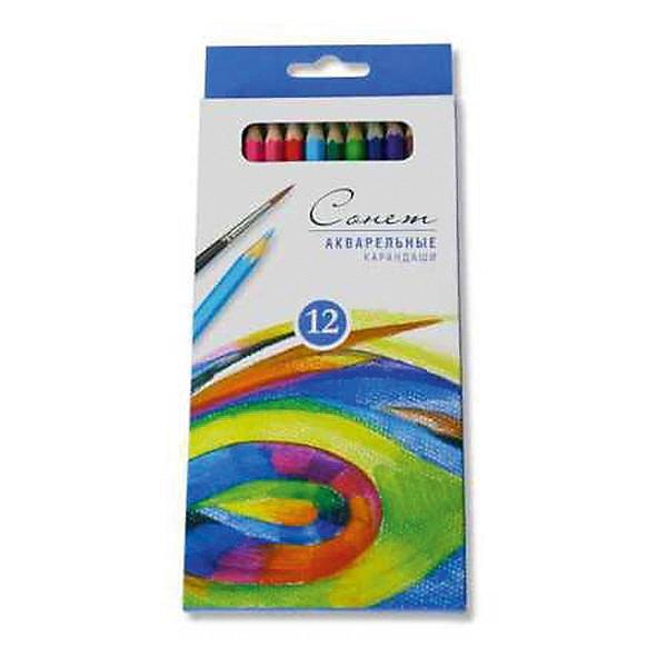 ЗАВОД ХУДОЖЕСТВЕННЫХ КРАСОК Набор карандашей акварельных СОНЕТ, 12 цвЦветные<br>Акварельные карандаши  применяются в живописи, рисовании, работе в смешанных техниках. Совмещает в себе свойства цветного карандаша и акварельных красок. Грифель карандашей произведен по специальной технологии, поэмоту карандаши обладают мягкостью, хорошей разносимостью и размываемостью, интенсивностью и чистотой цвета. 12 цветов<br>Ширина мм: 200; Глубина мм: 84; Высота мм: 10; Вес г: 70; Возраст от месяцев: 36; Возраст до месяцев: 168; Пол: Унисекс; Возраст: Детский; SKU: 6888740;