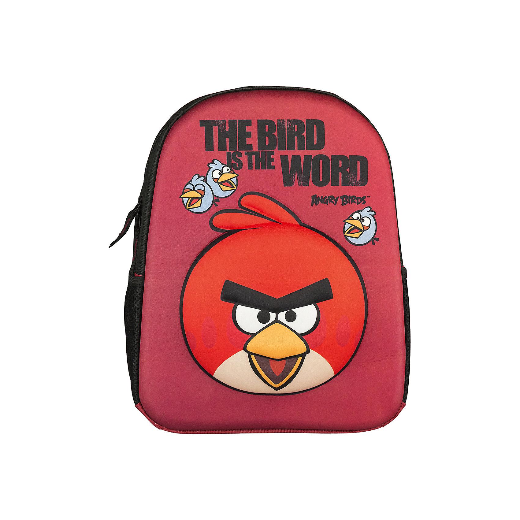 Рюкзак школьный Kinderline Angry BirdsAngry Birds<br>Рюкзак, спинка мягкая, уплотненная поролоном, EVA фронтальная панель. Одно вместительное отделение с двумя карманами с утягивающей резинкой. По бокам расположены карманы из воздухообменного материала. Дно рюкзака мягкое, лямки S-образной формы с поролоном и воздухообменным сетчатым материалом, регулируются по длине. Рюкзак оснащен текстильной ручкой Размер 36 х 28 х 12 см.<br><br>Ширина мм: 120<br>Глубина мм: 280<br>Высота мм: 360<br>Вес г: 400<br>Возраст от месяцев: 72<br>Возраст до месяцев: 120<br>Пол: Унисекс<br>Возраст: Детский<br>SKU: 6891455