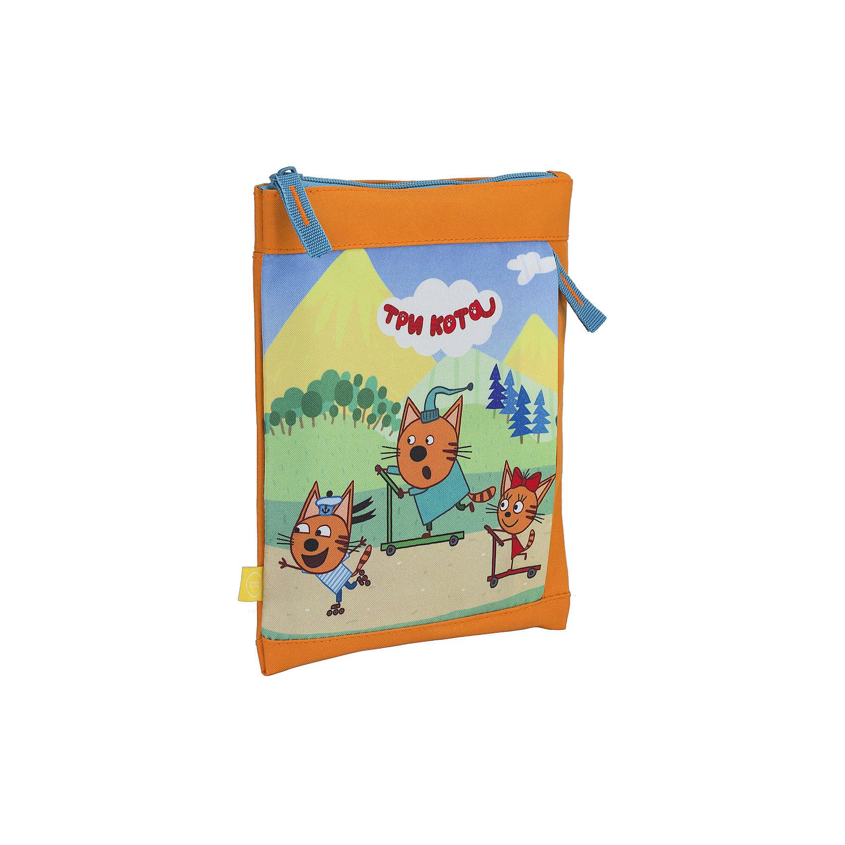 Сумка детская Kinderline Три котаДетские сумки<br>Характеристики товара:<br><br>• одно отделение;<br>• застегивается на молнию;<br>• внешний карман;<br>• регулируемый ремень;<br>• размер: 23х19 см;<br>• возраст: от 3-х лет;<br>• вес: 100 грамм;<br>• страна: Китай.<br><br>Сумка Три кота отлично подойдет для прогулок, занятий и путешествий. Сумка имеет одно основное отделение, застегивающееся на молнию. На лицевой стороне есть небольшой карман для мелочей.<br><br>Сумка изготовлена из прочного, износостойкого материала. Для удобства ребенка плечевой ремень можно регулировать по длине. Лицевая сторона оформлена изображением героев мультфильма «Три кота».<br><br>Три кота Сумку на плечо Размер 23 х 19 см можно купить в нашем интернет-магазине.<br><br>Ширина мм: 230<br>Глубина мм: 190<br>Высота мм: 0<br>Вес г: 100<br>Возраст от месяцев: 36<br>Возраст до месяцев: 2147483647<br>Пол: Унисекс<br>Возраст: Детский<br>SKU: 6892452