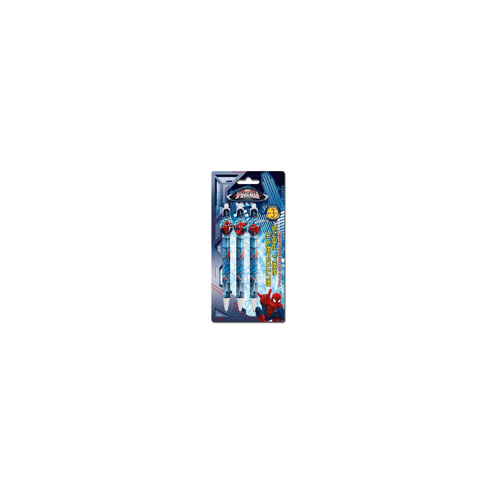 Spider-man Classic Набор из 3-х шариковых ручек с фигурным клипом в блистере Размер 20 х 10 х 1,5 см.Письменные принадлежности<br>Характеристики товара:<br><br>• в комплекте: 3 ручки;<br>• цвет чернил: синий;<br>• размер упаковки: 1,5х10х20 см;<br>• возраст: от 3 лет;<br>• вес: 44 грамма;<br>• страна: Китай.<br><br>В набор Spider-man Classic входят три шариковые ручки с синими чернилами.  Ручки оформлены изображением Человека-Паука.<br><br>Spider-man Classic Набор из 3-х шариковых ручек с фигурным клипом в блистере Размер 20 х 10 х 1,5 см можно купить в нашем интернет-магазине.<br><br>Ширина мм: 200<br>Глубина мм: 100<br>Высота мм: 15<br>Вес г: 44<br>Возраст от месяцев: 48<br>Возраст до месяцев: 84<br>Пол: Мужской<br>Возраст: Детский<br>SKU: 6892486