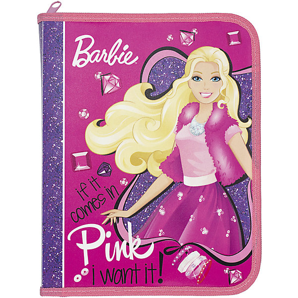 Папка для тетрадей Kinderline BarbieПапки для тетрадей<br>Характеристики товара:<br><br>• размер: 24х18,5х2,5 см;<br>• формат: А5;<br>• застегивается на молнию;<br>• возраст: от 5 лет;<br>• материал: полипропилен;<br>• вес: 56 грамм;<br>• страна: Китай.<br><br>Папка Barbie предназначена для хранения и транспортировки тетрадей, канцелярских принадлежностей и других предметов.<br><br>Папка изготовлена из полипропилена, надежно защищающего тетради и документы от повреждений. Основное отделение папки застегивается на молнию. Лицевая сторона оформлена красочным изображением Барби.<br><br>Barbie (Барби) Папка д/тетрадей Размер 24 x 18,5 x 2,5 см можно купить в нашем интернет-магазине.<br>Ширина мм: 240; Глубина мм: 185; Высота мм: 25; Вес г: 56; Возраст от месяцев: 72; Возраст до месяцев: 2147483647; Пол: Женский; Возраст: Детский; SKU: 6892492;