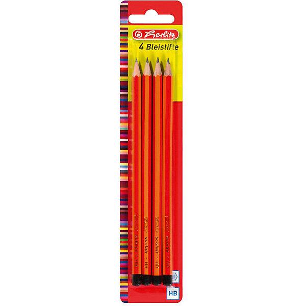 Herlitz Карандаши чернографитные, НВ, 4штПисьменные принадлежности<br>Характеристики:<br><br>• возраст: от 3 лет<br>• в наборе: карандаши чернографитные 4 шт.<br>• твердость грифеля: НВ<br>• материал корпуса: древесина<br>• упаковка: блистер<br>• размер упаковки: 23,5х4,9х0,8 см.<br><br>Набор чернографитных карандашей от Herlitz (Херлиц) отлично подойдет для различных графических или чертежных работ. В набор входят четыре чернографитовых карандаша твердостью HB. Карандаши имеют шестигранный корпус. Легко точатся. Грифель ударопрочный.<br><br>Карандаши изготовлены из древесины, которая сертифицирована независимой международной организацией FSC (Forest Stewardship Council) — Лесным Попечительским советом, что является показателем того, что продукция происходит из леса, в котором ведется экологически и социально ответственное лесное хозяйство.<br><br>Herlitz Карандаши чернографитные, НВ, 4шт можно купить в нашем интернет-магазине.<br>Ширина мм: 80; Глубина мм: 490; Высота мм: 2350; Вес г: 0; Возраст от месяцев: 36; Возраст до месяцев: 2147483647; Пол: Унисекс; Возраст: Детский; SKU: 6892618;