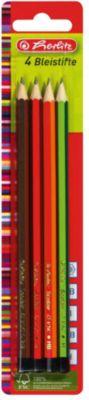 Herlitz Карандаши чернографитные, 4шт, (Н,НВ,В,2В), блистер