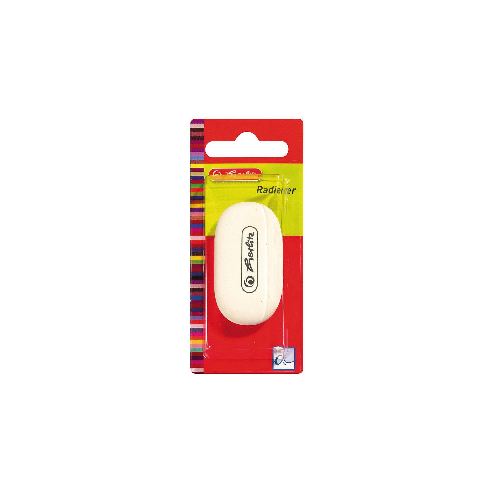 Herlitz Ластик овальный, белый, блистерЧертежные принадлежности<br>Характеристики:<br><br>• возраст: от 3 лет<br>• цвет: белый<br>• форма: овал<br>• материал: каучук<br>• упаковка: блистер<br>• размер упаковки: 11х4х2 см.<br><br>Ластик от Herlitz (Херлиц) овальной формы хорошо стирает линии, оставленные графитовыми и цветными карандашами. Он изготовлен из термопластичного каучука. Ластик не повреждает поверхность и не оставляет грязных следов.<br><br>Herlitz Ластик овальный, белый, блистер можно купить в нашем интернет-магазине.<br><br>Ширина мм: 180<br>Глубина мм: 490<br>Высота мм: 110<br>Вес г: 0<br>Возраст от месяцев: 36<br>Возраст до месяцев: 2147483647<br>Пол: Унисекс<br>Возраст: Детский<br>SKU: 6892622