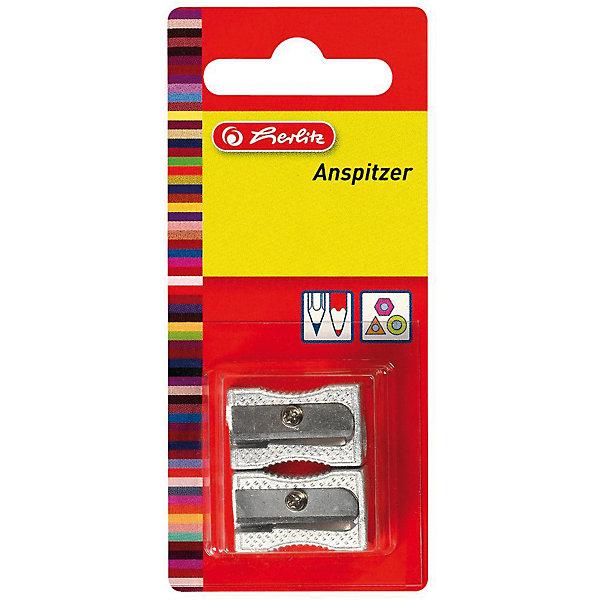 Herlitz Точилки металлические, 2 шт, блистерКанцтовары для первоклассников<br>Характеристики:<br><br>• возраст: от 3 лет<br>• в наборе: 2 точилки<br>• количество отверстий: 1<br>• материал корпуса: металл<br>• материал лезвия: сталь<br>• размер: 2,5х1 см.<br>• упаковка: блистер<br>• размер упаковки: 11х5х1 см.<br><br>Точилки от Herlitz (Херлиц) с металлическим корпусом предназначены для затачивания карандашей диаметром 8 мм. Острое стальное лезвие обеспечивает высококачественную и точную заточку. Карандаши затачиваются легко и аккуратно.<br><br>Herlitz Точилки металлические, 2 шт, блистер можно купить в нашем интернет-магазине.<br>Ширина мм: 120; Глубина мм: 49; Высота мм: 11; Вес г: 0; Возраст от месяцев: 36; Возраст до месяцев: 2147483647; Пол: Унисекс; Возраст: Детский; SKU: 6892631;