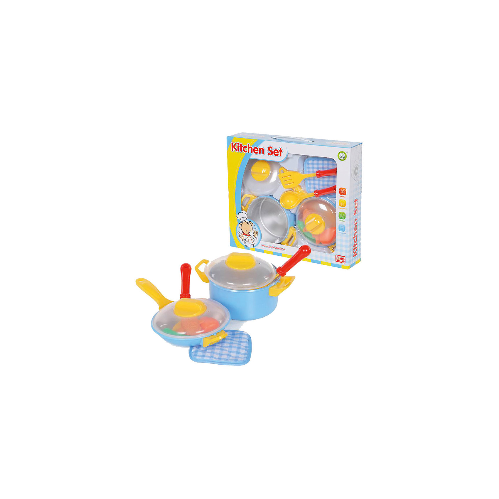 Набор посуды, YakoПосуда и аксессуары для детской кухни<br><br><br>Ширина мм: 250<br>Глубина мм: 260<br>Высота мм: 170<br>Вес г: 571<br>Возраст от месяцев: 36<br>Возраст до месяцев: 2147483647<br>Пол: Женский<br>Возраст: Детский<br>SKU: 6893383