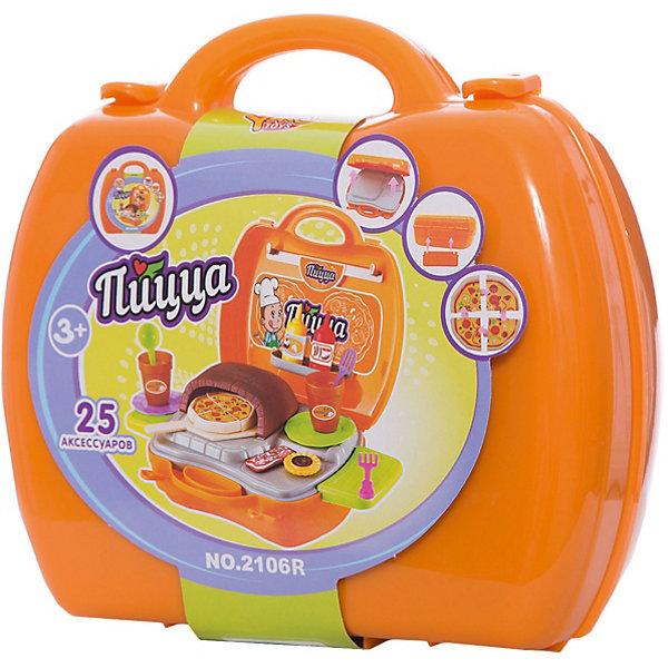 Игровой набор Пицца, YakoИгрушечные продукты питания<br>Характеристики товара:<br><br>• в комплекте: чемоданчик, игрушечная плита, посуда, столовые приборы, аксессуары;<br>• материал: пластик;<br>• возраст: от 3-х лет;<br>• размер упаковки: 30х34х30 см;<br>• вес: 497 грамм;<br>• страна бренда: Китай.<br><br>Игровой набор «Пицца» содержит всё необходимое для приготовления вкусного итальянского блюда. Чемоданчик раскладывается, а после игры все предметы можно сложить обратно, чтобы взять чемоданчик с собой.<br><br>Чемоданчик быстро превращается в плиту. На полочках и крючках ребенок сможет удобно разместить посуду и аксессуары.<br><br>Игрушки изготовлены из пластика без содержания токсичных материалов.<br><br>Игровой набор Пицца, Yako (Яко) можно купить в нашем интернет-магазине.<br>Ширина мм: 300; Глубина мм: 340; Высота мм: 300; Вес г: 497; Возраст от месяцев: 36; Возраст до месяцев: 2147483647; Пол: Женский; Возраст: Детский; SKU: 6893384;