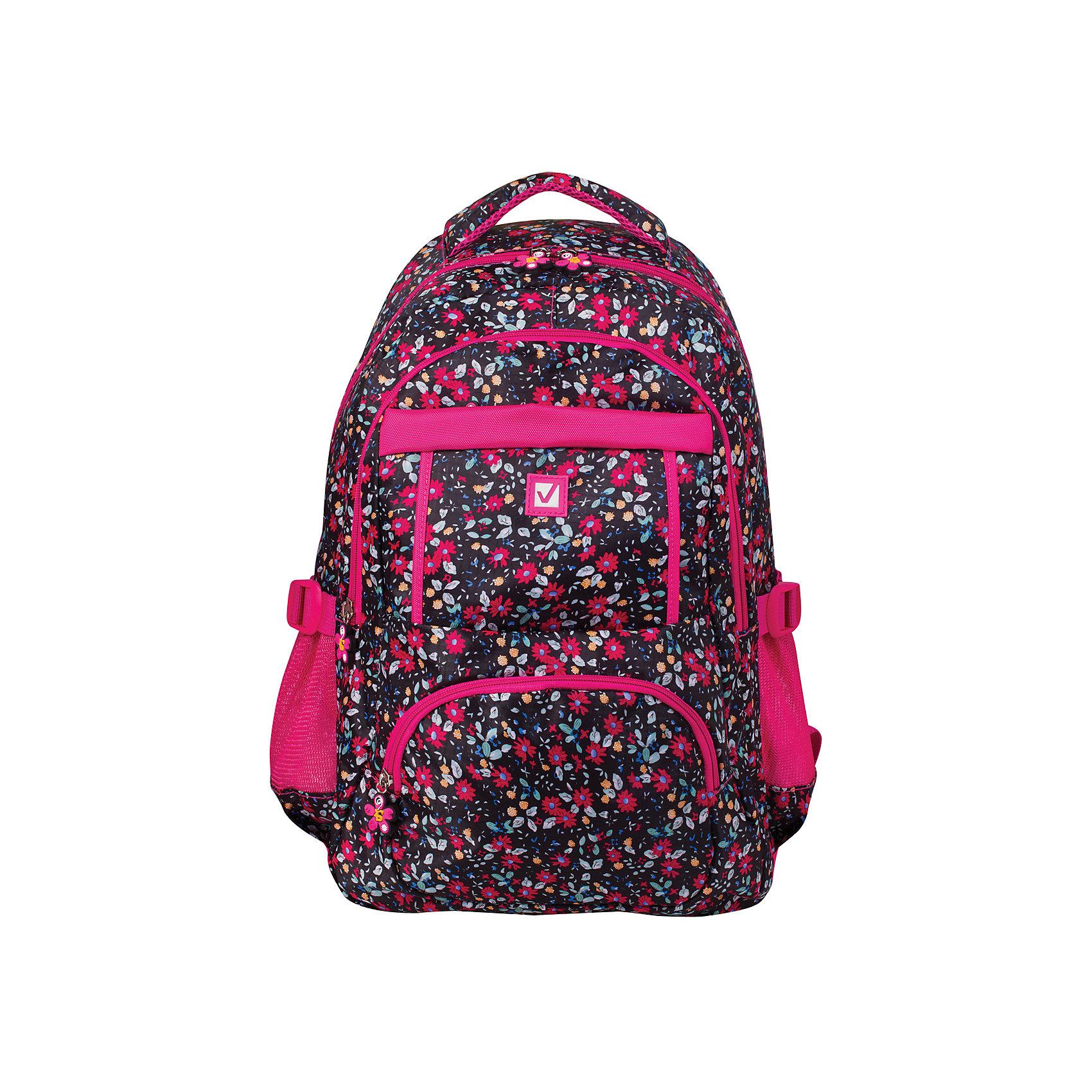 Рюкзак Brauberg Цветы, 26 литровРюкзаки<br>Стильный рюкзак для старшеклассников и студентов. Выполнен из износостойкого материала. Способен выдерживать большие нагрузки, с которыми ежедневно сталкиваются активные молодые люди.•1 отделение, 5 карманов. •Ремни регулировки объема. •Материал - полиэстер. •Размер - 45х31х12 см. •Объем - 26 литров. •Вес - 0,55 кг.<br><br>Ширина мм: 30<br>Глубина мм: 310<br>Высота мм: 450<br>Вес г: 540<br>Возраст от месяцев: 72<br>Возраст до месяцев: 2147483647<br>Пол: Женский<br>Возраст: Детский<br>SKU: 6893764