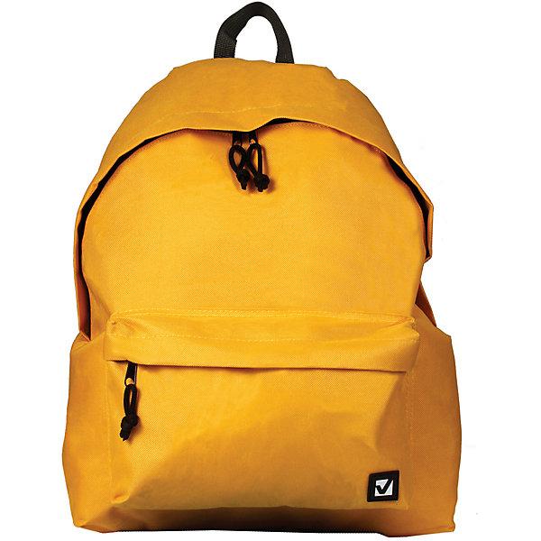 Рюкзак Brauberg Классика желтый, 20 литровРюкзаки<br>Характеристики товара:<br><br>• объем: 20л;<br>• регулируемые лямки;<br>• материал: рипстоп;<br>• водоотталкивающая ткань;<br>• количество отделений: 1;<br>• 1 внешний карман;<br>• застежка: молния;<br>• возраст: от 15 лет, старшие классы/студенты;<br>• размер: 41х32х14 см;<br>• вес: 370 грамм;<br>• цвет: желтый;<br>• страна бренда: Германия;<br>• страна изготовитель: Китай.<br><br>Стильный и практичный рюкзак от Brauberg отлично подойдет для активных старшеклассников и студентов. Рюкзак можно использовать как для учебы, так и для прогулок. Рюкзак имеет одно отделение на молнии и внешний объемный карман на молнии. Водоотталкивающий материал защитит содержимое от намокания и загрязнений. Лямки рюкзака можно регулировать. Модель выполнена в классическом желтом цвете.<br><br>Рюкзак Brauberg (Брауберг) универсальный, сити-формат, один тон, желтый, 20 литров, 41*32*14 cм можно купить в нашем интернет-магазине.<br><br>Ширина мм: 20<br>Глубина мм: 320<br>Высота мм: 405<br>Вес г: 350<br>Возраст от месяцев: 72<br>Возраст до месяцев: 2147483647<br>Пол: Унисекс<br>Возраст: Детский<br>SKU: 6893774