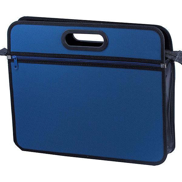 Папка-сумка Brauberg Классика А4, синяяПапки для дополнительных занятий<br>Характеристики товара:<br><br>• формат: А4;<br>• размер: 37х30х10 см;<br>• возраст: от 7 лет;<br>• застежка: молния;<br>• материал: пластик;<br>• толщина материала: 1 мм;<br>• цвет: синий;<br>• вес: 188 грамм;<br>• страна бренда: Германия;<br>• страна изготовитель: Китай.<br><br>Стильную и практичную сумку оценит каждый студент или старшеклассник. В ней удобно носить документы, бумаги и другие необходимые предметы. Сумка изготовлена из пластика толщиной 1 мм. Одно основное отделение застегивается на удобную молнию. Сумка выполнена в приятном синем цвете.  Края и ручки сумки окантованы тканью для сохранения презентабельного вида изделия.<br><br>Сумку пластиковую Brauberg (Брауберг) А4+, 390*315*70 мм, на молнии, внешний карман, фактура бисер, син, 225167 можно купить в нашем интернет-магазине.<br><br>Ширина мм: 315<br>Глубина мм: 390<br>Высота мм: 70<br>Вес г: 630<br>Возраст от месяцев: 72<br>Возраст до месяцев: 2147483647<br>Пол: Унисекс<br>Возраст: Детский<br>SKU: 6893824