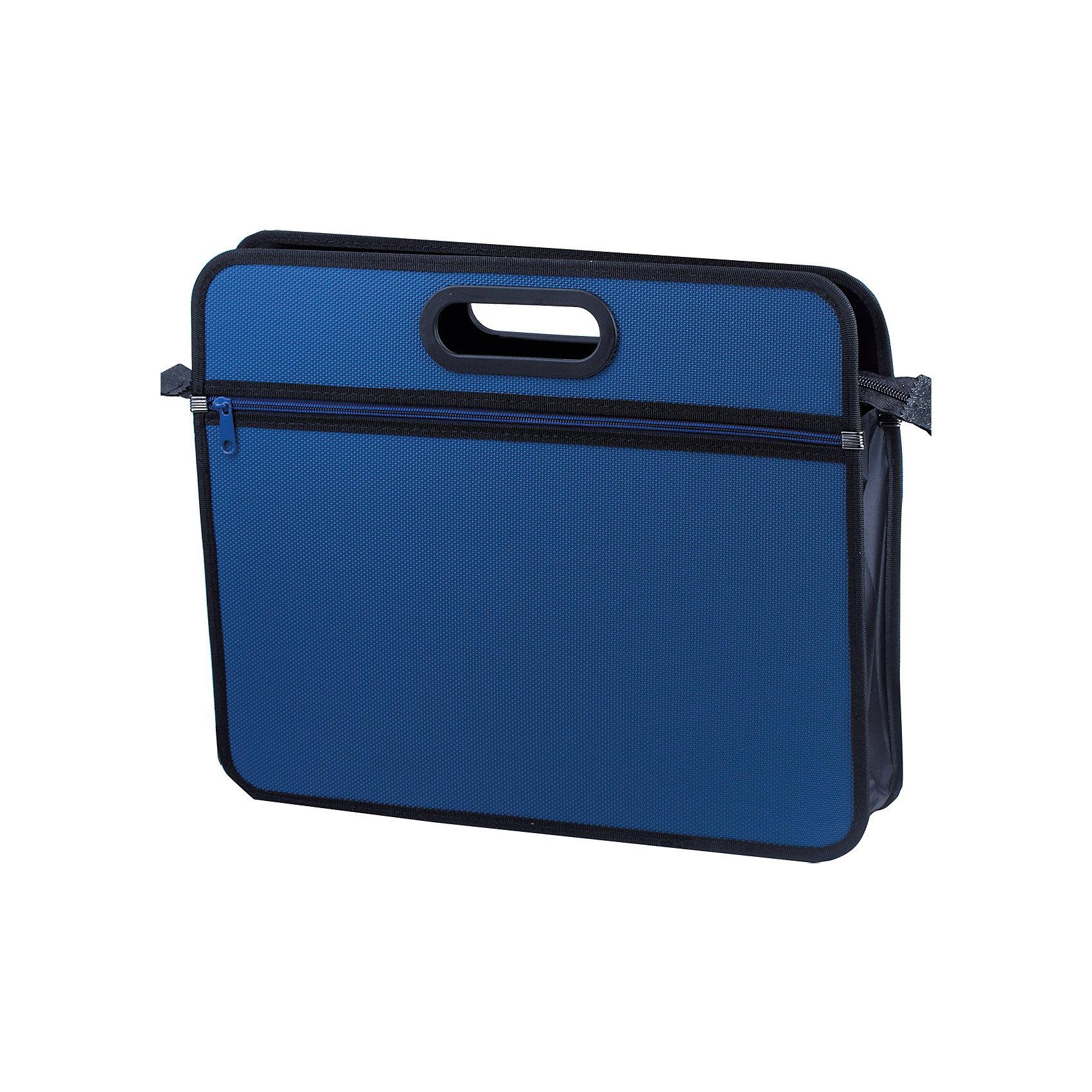 Папка-сумка Brauberg Классика А4, синяяПапки для дополнительных занятий<br>Удобная и стильная модель для транспортировки документов и различных предметов. Ручка и края окантованы тканью, придавая презентабельный вид изделию. Материал - жесткий пластик с фактурой бисер. Застегивается на молнию.•Размер - 390х315х70 мм (А4+). •1 отделение, 1 внешний карман. •Толщина материала - 1 мм. •Фактура - бисер. •Жесткий пластик. •Замок - молния. •Цвет - синий.<br><br>Ширина мм: 315<br>Глубина мм: 390<br>Высота мм: 70<br>Вес г: 630<br>Возраст от месяцев: 72<br>Возраст до месяцев: 2147483647<br>Пол: Унисекс<br>Возраст: Детский<br>SKU: 6893824