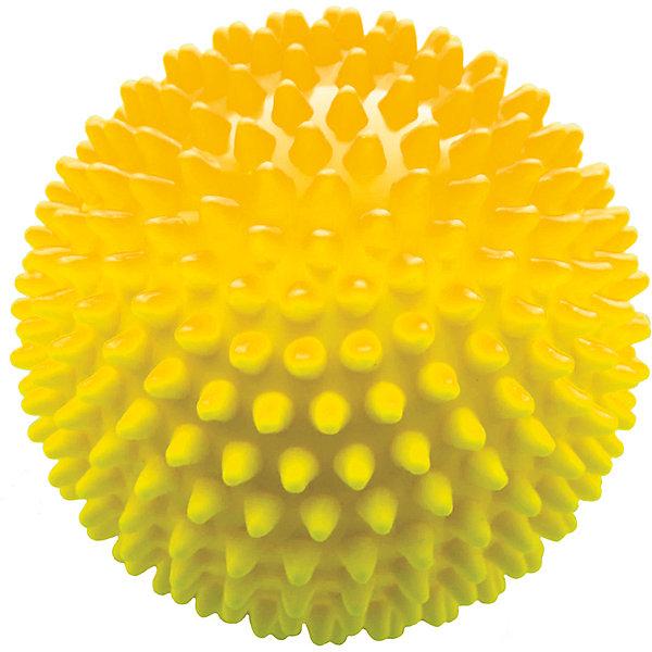 Мяч ёжик желтый, 6,5 см, МалышОКМячи детские<br>Характеристики товара:<br><br>• диаметр мяча: 6,5 см;<br>• материал: ПВХ;<br>• цвет: желтый;<br>• возраст: от 0 месяцев;<br>• размер упаковки: 7х7х7 см;<br>• вес: 30 грамм;<br>• страна бренда: Россия.<br><br>Мяч ёжик - игровой мяч для детей с рождения. Его можно использовать для игр, массажа или во время водных процедур.<br><br>Занятия с массажным мячом хорошо влияют на развитие мускулатуры, центральной нервной системы, ускорение капиллярного кровотока.  Во время игры с мячом развиваются тактильные ощущения, цветовое восприятие и координация движений малыша.<br><br>Мяч изготовлен из гипоаллергенного материала.<br><br>Мяч ёжик желтый, 6,5 см, МалышОК можно купить в нашем интернет-магазине.<br>Ширина мм: 70; Глубина мм: 70; Высота мм: 70; Вес г: 30; Возраст от месяцев: 6; Возраст до месяцев: 2147483647; Пол: Унисекс; Возраст: Детский; SKU: 6894010;