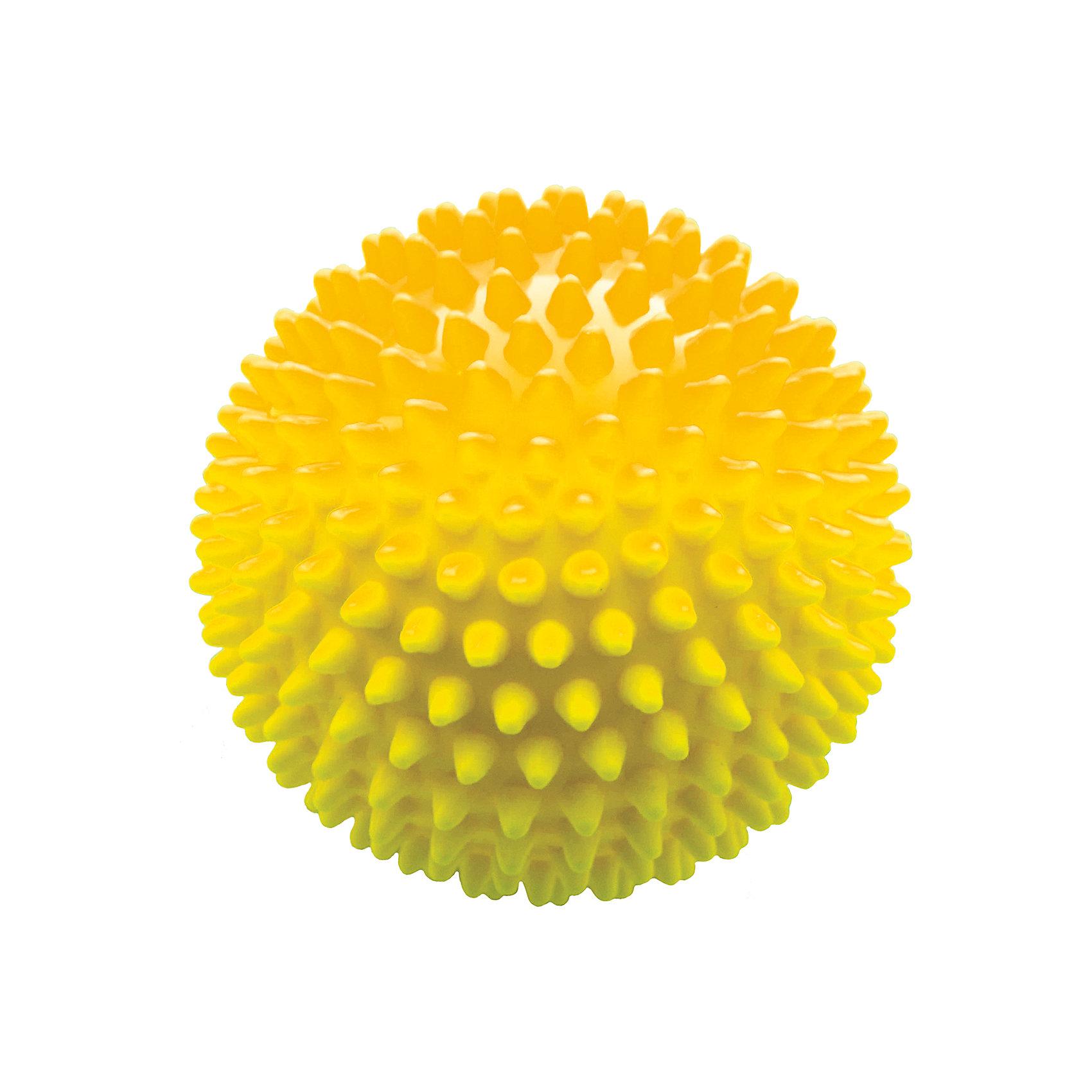 Мяч ёжик желтый, 6,5 см, МалышОКМячи детские<br>Характеристики товара:<br><br>• диаметр мяча: 6,5 см;<br>• материал: ПВХ;<br>• цвет: желтый;<br>• возраст: от 0 месяцев;<br>• размер упаковки: 7х7х7 см;<br>• вес: 30 грамм;<br>• страна бренда: Россия.<br><br>Мяч ёжик - игровой мяч для детей с рождения. Его можно использовать для игр, массажа или во время водных процедур.<br><br>Занятия с массажным мячом хорошо влияют на развитие мускулатуры, центральной нервной системы, ускорение капиллярного кровотока.  Во время игры с мячом развиваются тактильные ощущения, цветовое восприятие и координация движений малыша.<br><br>Мяч изготовлен из гипоаллергенного материала.<br><br>Мяч ёжик желтый, 6,5 см, МалышОК можно купить в нашем интернет-магазине.<br><br>Ширина мм: 70<br>Глубина мм: 70<br>Высота мм: 70<br>Вес г: 30<br>Возраст от месяцев: 6<br>Возраст до месяцев: 2147483647<br>Пол: Унисекс<br>Возраст: Детский<br>SKU: 6894010