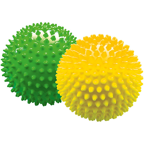 Набор мячей ёжиков, желтый и зеленый, 12 см, МалышОКМячи детские<br>Характеристики товара:<br><br>• в комплекте: 2 мяча;<br>• диаметр мяча: 12 см;<br>• материал: ПВХ;<br>• цвет: желтый, зеленый;<br>• возраст: от 0 месяцев;<br>• размер упаковки: 13х13х26 см;<br>• вес: 150 грамм;<br>• страна бренда: Россия.<br><br>Набор мячей ёжиков предназначен для игр или массажа. Мячи подходят для использования в воде. В комплект входят 2 мяча диаметром 12 сантиметров.<br><br>Во время игры развиваются тактильные навыки, цветовое восприятие, координация движений и моторика рук. Мягкие шипы бережно массируют кожу малыша, улучшая кровоток, что благотворно влияет на развитие нервной системы и мускулатуры.<br><br>Мячи изготовлены из гипоаллергенных материалов.<br><br>Набор мячей ёжиков, желтый и зеленый, 12 см, МалышОК можно купить в нашем интернет-магазине.<br>Ширина мм: 260; Глубина мм: 130; Высота мм: 130; Вес г: 150; Возраст от месяцев: 6; Возраст до месяцев: 2147483647; Пол: Унисекс; Возраст: Детский; SKU: 6894022;