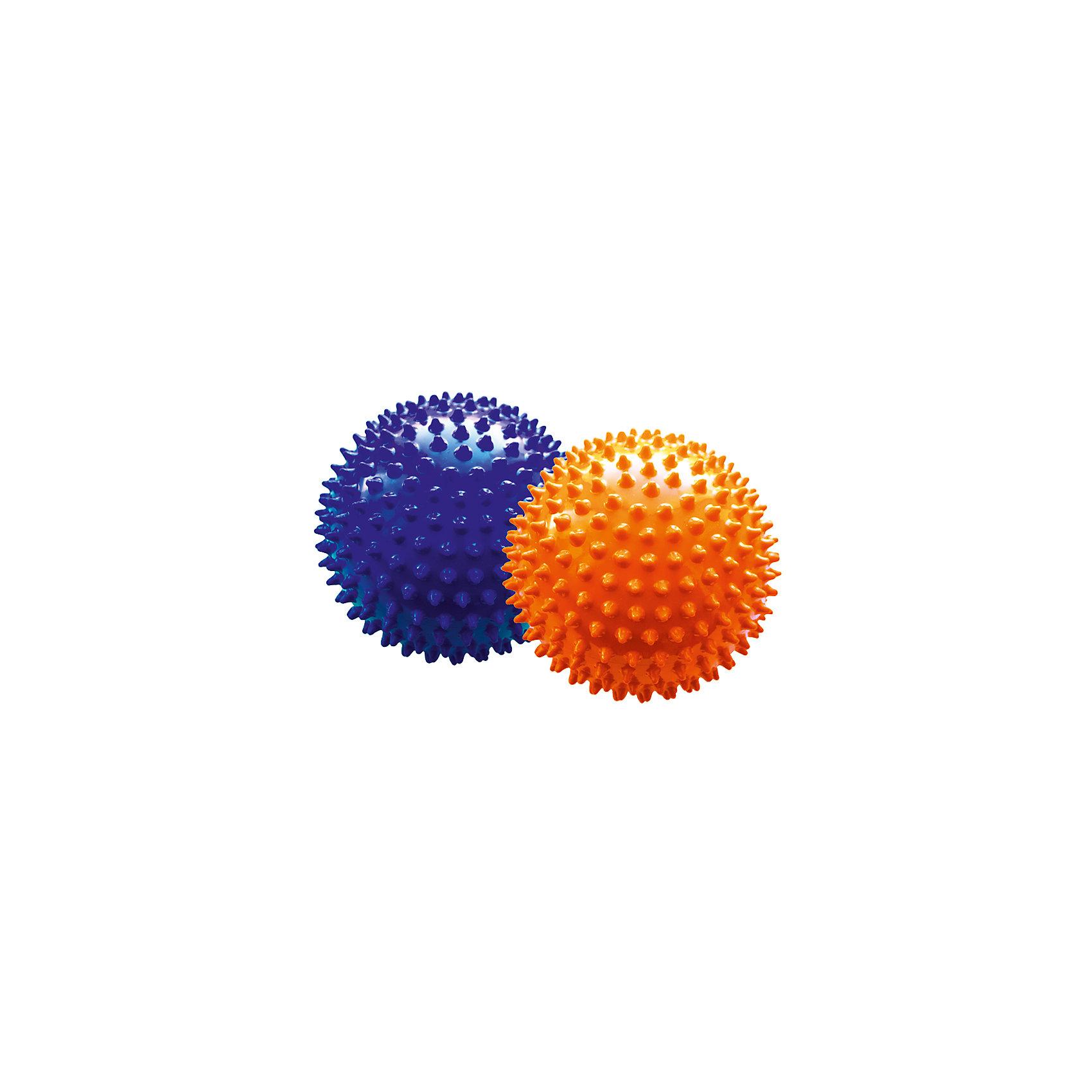 Набор мячей ёжиков, оранжевый и синий, 12 см, МалышОКМячи детские<br>Характеристики товара:<br><br>• в комплекте: 2 мяча;<br>• диаметр мяча: 12 см;<br>• материал: ПВХ;<br>• цвет: оранжевый, синий;<br>• возраст: от 0 месяцев;<br>• размер упаковки: 13х13х26 см;<br>• вес: 150 грамм;<br>• страна бренда: Россия.<br><br>Набор мячей ёжиков предназначен для игр или массажа. Мячи подходят для использования в воде. В комплект входят 2 мяча диаметром 12 сантиметров.<br><br>Во время игры развиваются тактильные навыки, цветовое восприятие, координация движений и моторика рук. Мягкие шипы бережно массируют кожу малыша, улучшая кровоток, что благотворно влияет на развитие нервной системы и мускулатуры.<br><br>Мячи изготовлены из гипоаллергенных материалов.<br><br>Набор мячей ёжиков, оранжевый и синий, 12 см, МалышОК можно купить в нашем интернет-магазине.<br><br>Ширина мм: 260<br>Глубина мм: 130<br>Высота мм: 130<br>Вес г: 150<br>Возраст от месяцев: 6<br>Возраст до месяцев: 2147483647<br>Пол: Унисекс<br>Возраст: Детский<br>SKU: 6894023