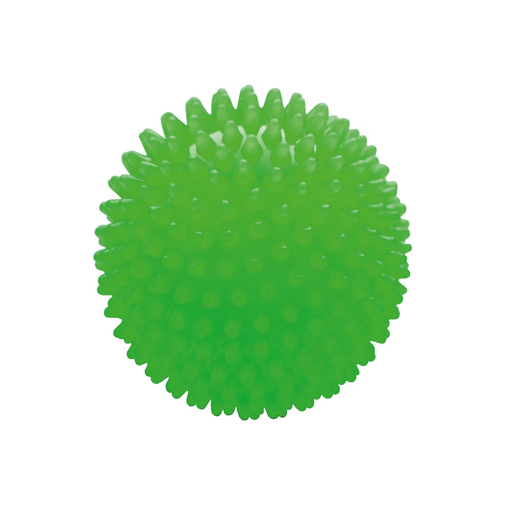 Мяч ёжик зеленый люминесцентный, 18 см, МалышОКМячи детские<br>Характеристики товара:<br><br>• диаметр мяча: 18 см;<br>• материал: ПВХ;<br>• цвет: люминесцентный;<br>• возраст: от 0 месяцев;<br>• размер упаковки: 22,5х18х21 см;<br>• вес: 80 грамм;<br>• страна бренда: Россия.<br><br>Мяч ёжик подходит для игр, массажа и использования в воде. Мягкие шипы мяча массируют кожу малыша, улучшая кровоток, что способствует уменьшению венозного застоя, развитию мускулатуры, центральной и периферической нервной системы.<br><br>Игра с мячом поможет развить моторику рук, тактильные ощущения, координацию, а также цветовое восприятие.<br><br>Мяч изготовлен из гипоаллергенного материала.<br><br>Мяч ёжик люминесцентный, 18 см, МалышОК можно купить в нашем интернет-магазине.<br><br>Ширина мм: 210<br>Глубина мм: 180<br>Высота мм: 225<br>Вес г: 80<br>Возраст от месяцев: 6<br>Возраст до месяцев: 2147483647<br>Пол: Унисекс<br>Возраст: Детский<br>SKU: 6894030