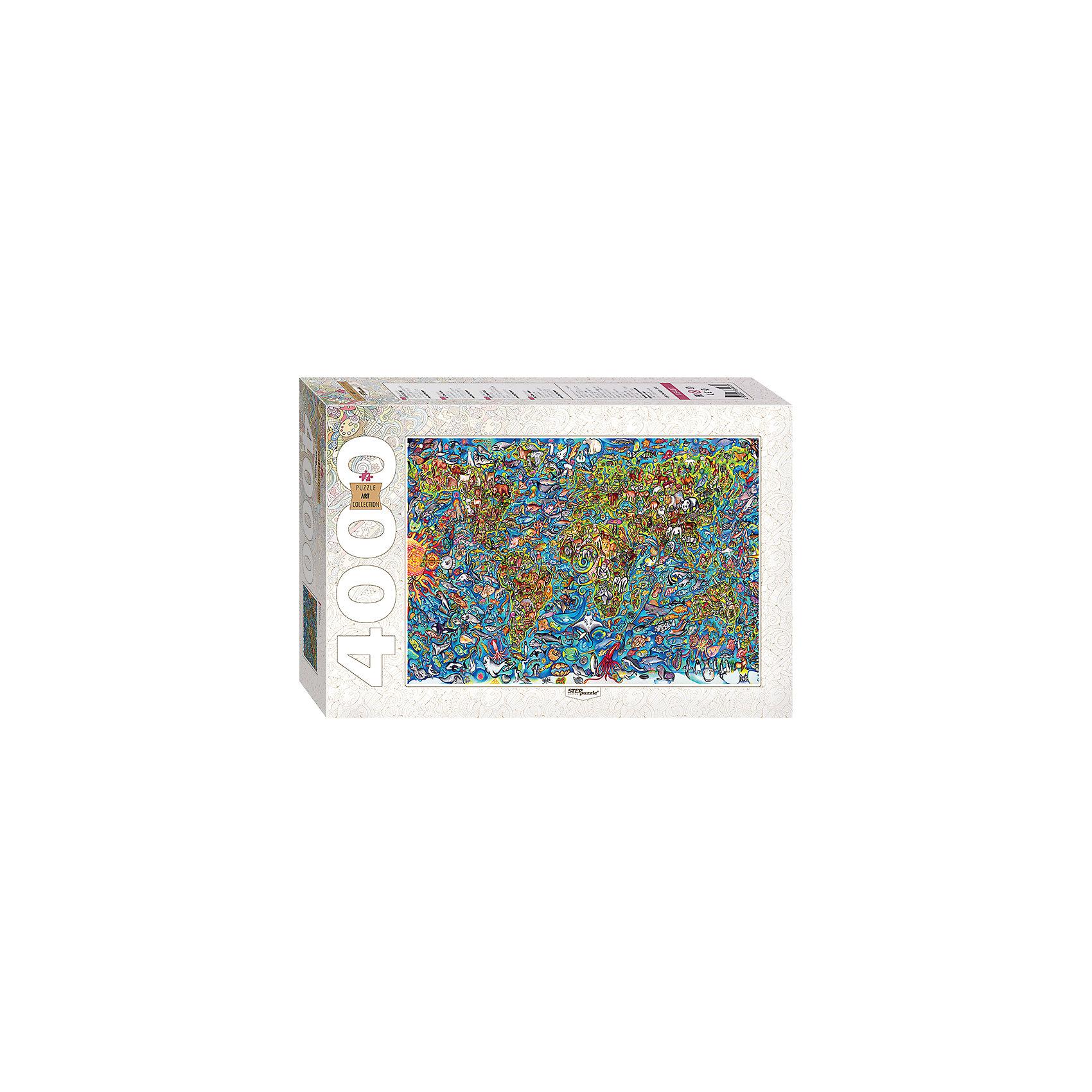 Пазл, 4000 деталей, Карта мира, Step PuzzleПазлы для детей постарше<br><br><br>Ширина мм: 400<br>Глубина мм: 270<br>Высота мм: 85<br>Вес г: 2000<br>Возраст от месяцев: 120<br>Возраст до месяцев: 2147483647<br>Пол: Унисекс<br>Возраст: Детский<br>SKU: 6894222