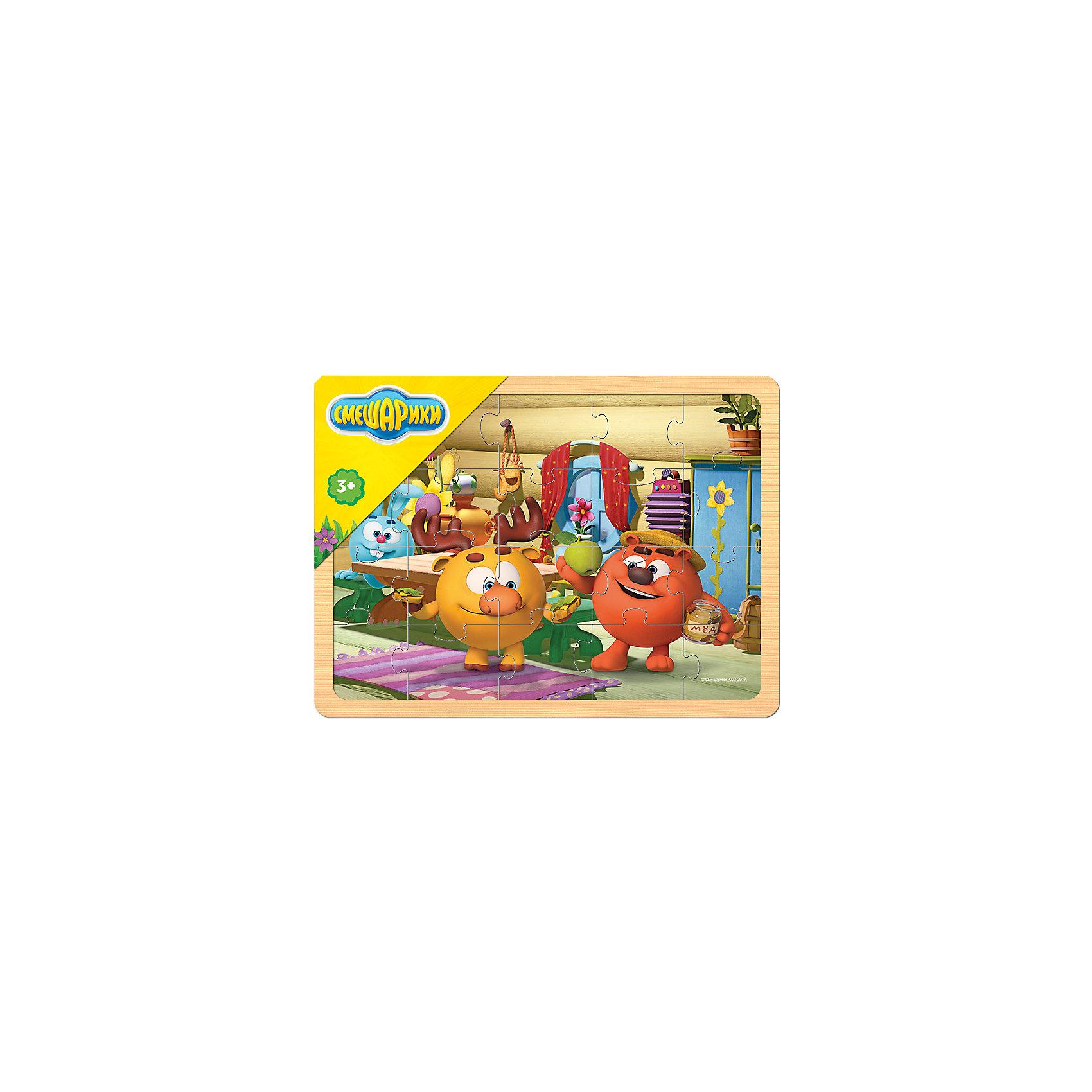 Игра из дерева Смешарики, Step PuzzleПазлы для малышей<br><br><br>Ширина мм: 298<br>Глубина мм: 220<br>Высота мм: 8<br>Вес г: 380<br>Возраст от месяцев: 36<br>Возраст до месяцев: 2147483647<br>Пол: Унисекс<br>Возраст: Детский<br>SKU: 6894237