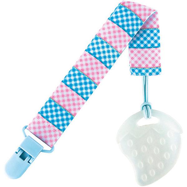 Держатель для пустышки от 0 мес., Roxy-Kids, голубой/розовыйПустышки<br>Характеристики:<br><br>• держатель предназначен для удерживания пустышки и быстрого доступа к ней;<br>• держатель оснащен клипсой, с помощью которой аксессуар можно пристегнуть к одежде ребенка, слингу, конверту;<br>• клипса с широким захватом;<br>• текстильная ленточка с петелькой для крепления пустышки;<br>•  материал: пластик, текстиль.<br><br>Держатель для пустышки от 0 мес., Roxy-Kids, голубой/розовый можно купить в нашем интернет-магазине.<br><br>Ширина мм: 240<br>Глубина мм: 75<br>Высота мм: 5<br>Вес г: 100<br>Возраст от месяцев: 0<br>Возраст до месяцев: 12<br>Пол: Унисекс<br>Возраст: Детский<br>SKU: 6894503