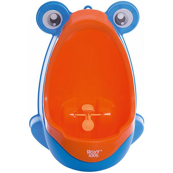 Писсуар с прицелом Лягушка, Roxy-kids, оранжево-голубойДетские горшки и писсуары<br>Писсуар с прицелом, Roxy-kids (Рокси-кидс) поможет вашему малышу легко и быстро приучиться ходить во взрослый туалет. Яркий оригинальный писсуар в форме лягушонка обязательно понравится ребенку и в игровой форме поможет малышу овладеть необходимыми гигиеническими навыками. Изделие выполнено из прочного пластика, может крепиться на стену с помощью присосок, расположенных на задней стенке. <br><br>Дополнительная информация:<br><br>- Размер: 15х21х30 см.<br>- Материал: пластик.<br>- Цвет: оранжево-голубой<br><br>Писсуар с прицелом Лягушка, Roxy-kids (Рокси-кидс), бежево-коричневый, можно купить в нашем магазине.<br><br>Ширина мм: 220<br>Глубина мм: 220<br>Высота мм: 360<br>Вес г: 500<br>Возраст от месяцев: 12<br>Возраст до месяцев: 36<br>Пол: Унисекс<br>Возраст: Детский<br>SKU: 6895386